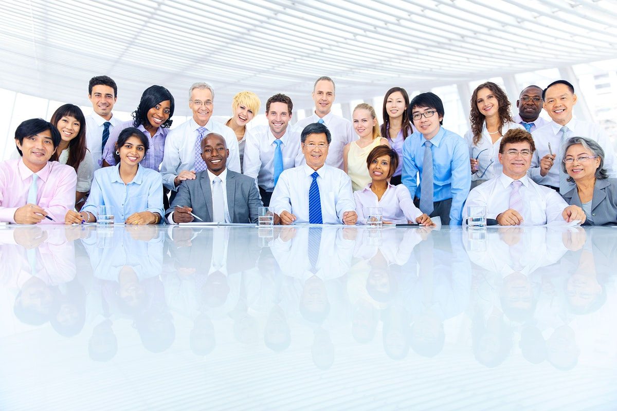 Group of diverse business people