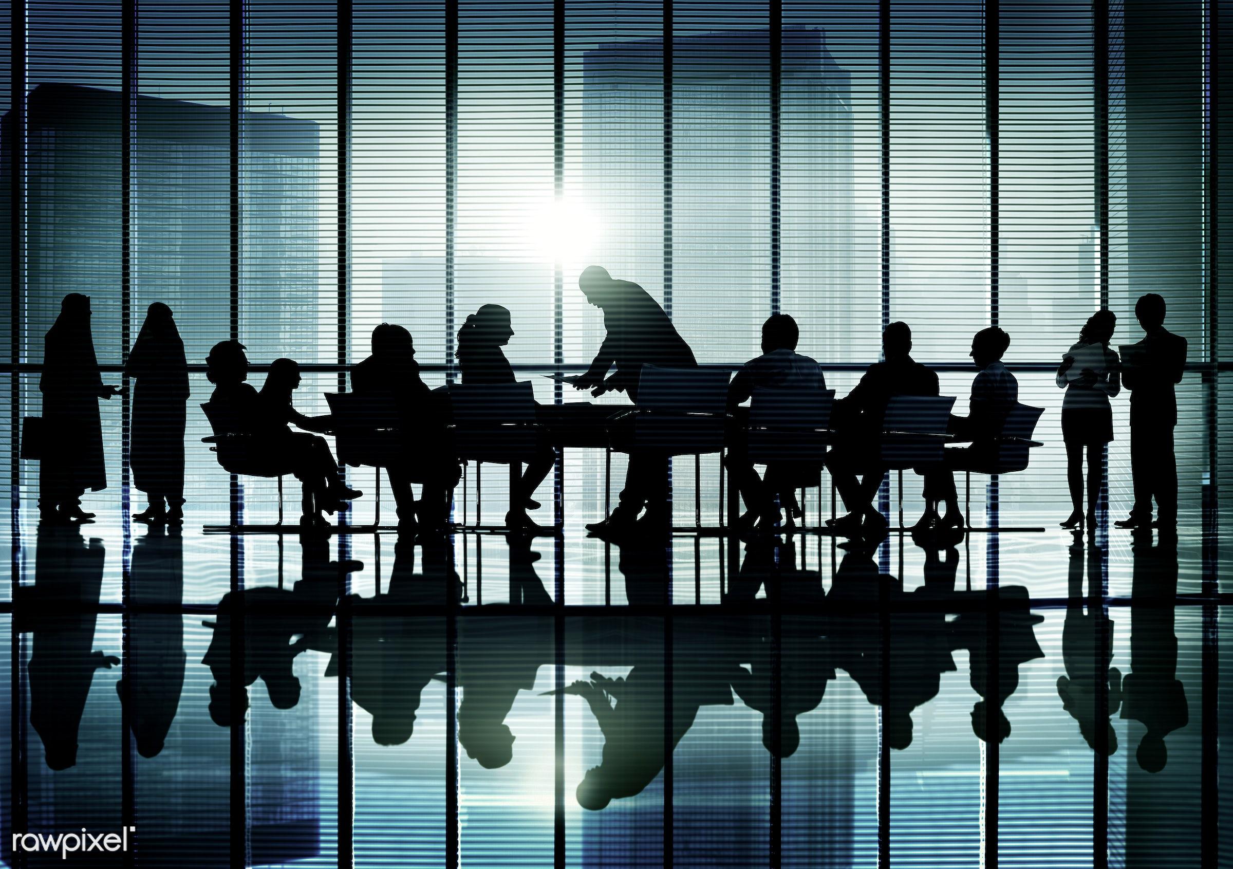 backlit, business, business people, businessmen, businesswomen, cityscape, colleagues, communication, concepts, conference,...