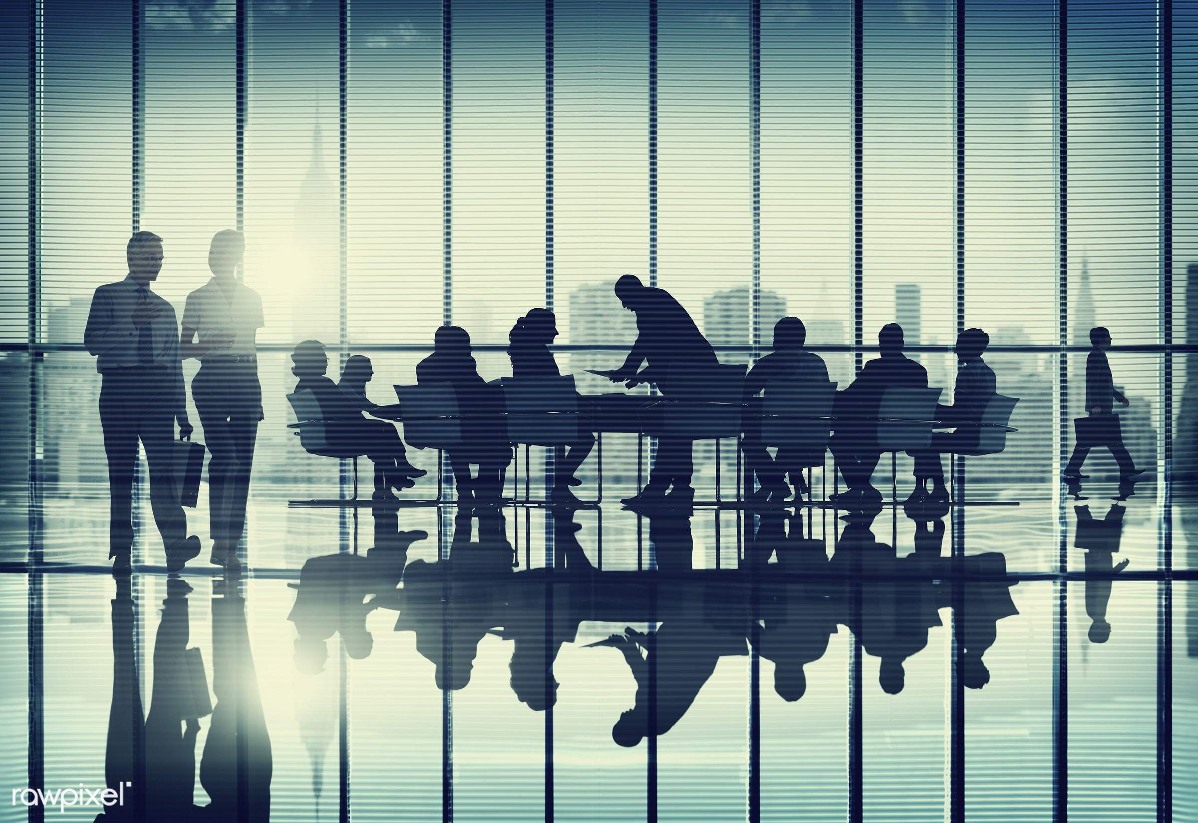 backlit, board room, business, business people, businessmen, businesswomen, cityscape, colleagues, communication, conference...