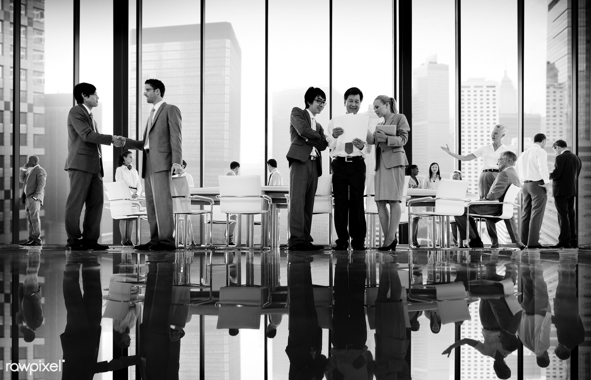 agreement, board room, brainstorming, building, business, business people, businessmen, businesswomen, city, cityscape,...