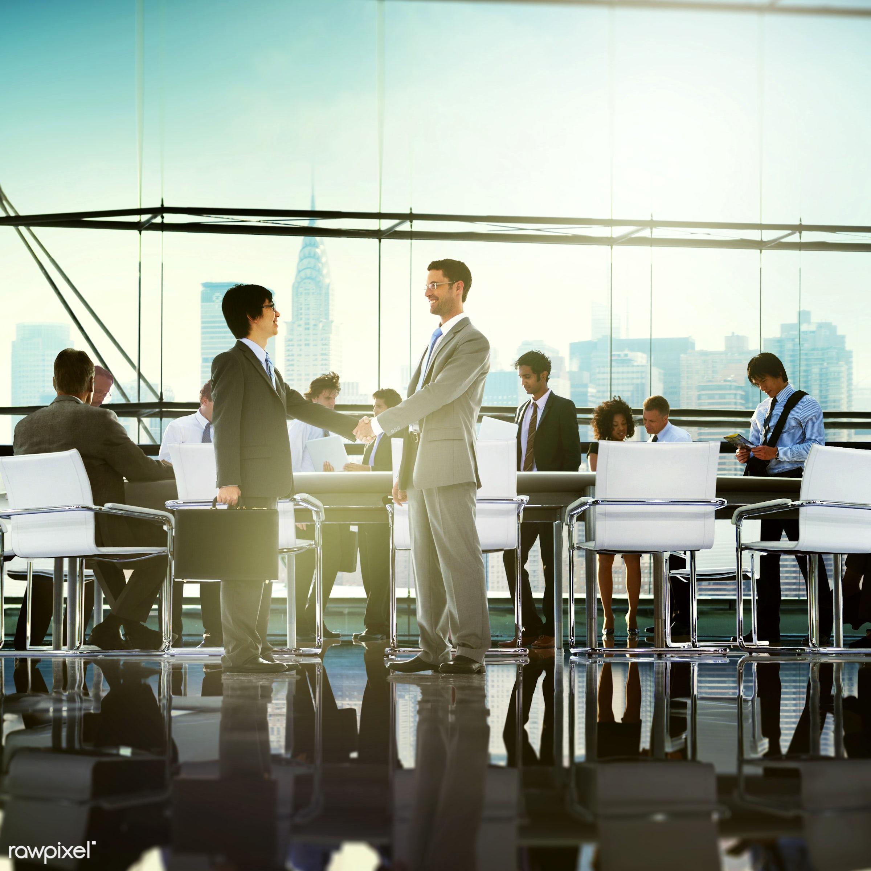 african descent, asian ethnicity, boardroom, brainstorming, building, business, business people, businessmen, businesswomen...