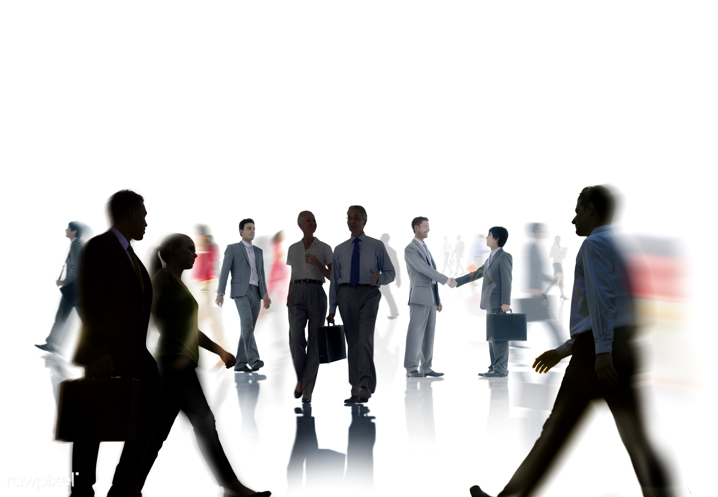 abstract, back lit, blurred motion, business, business people, businessmen, businesswomen, busy, communication, commuter,...