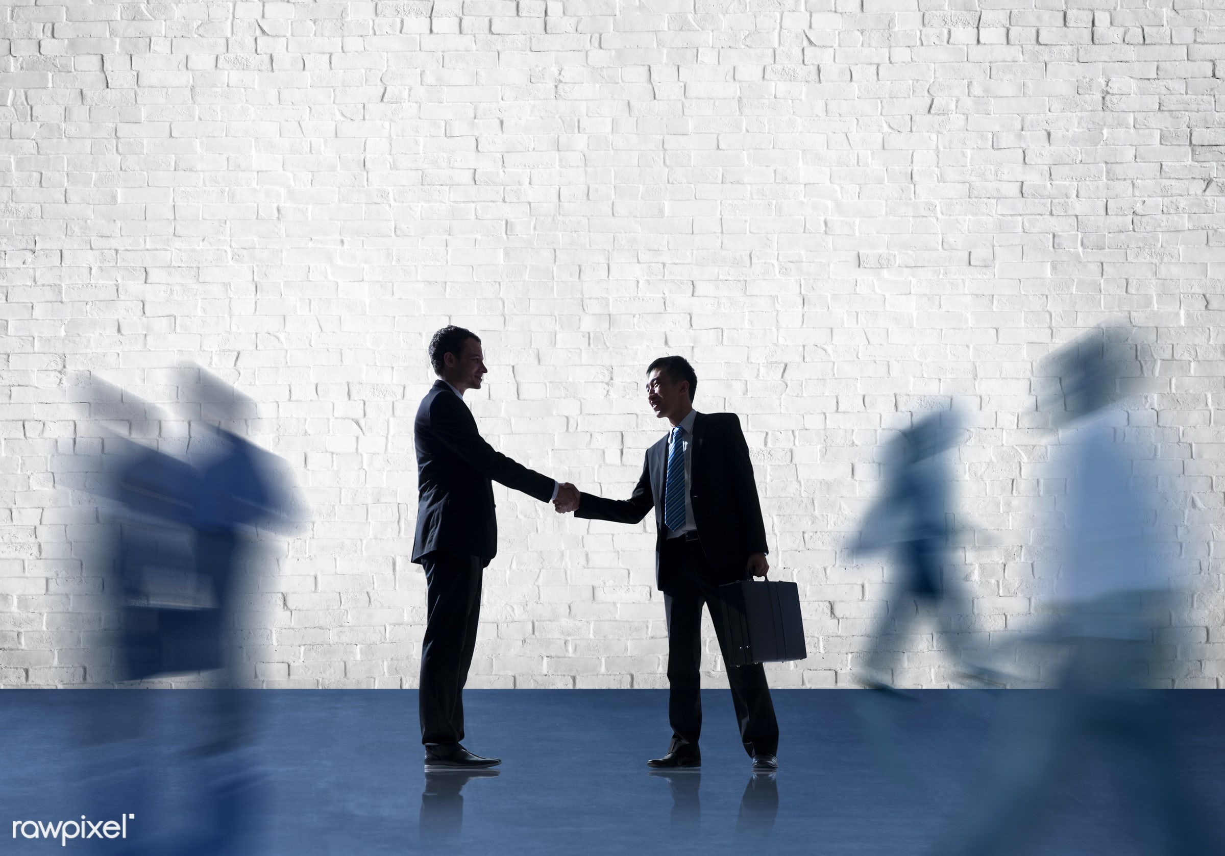 agreement, blank, brick, brick wall, business, business people, businessmen, businesswomen, collaboration, colleague,...