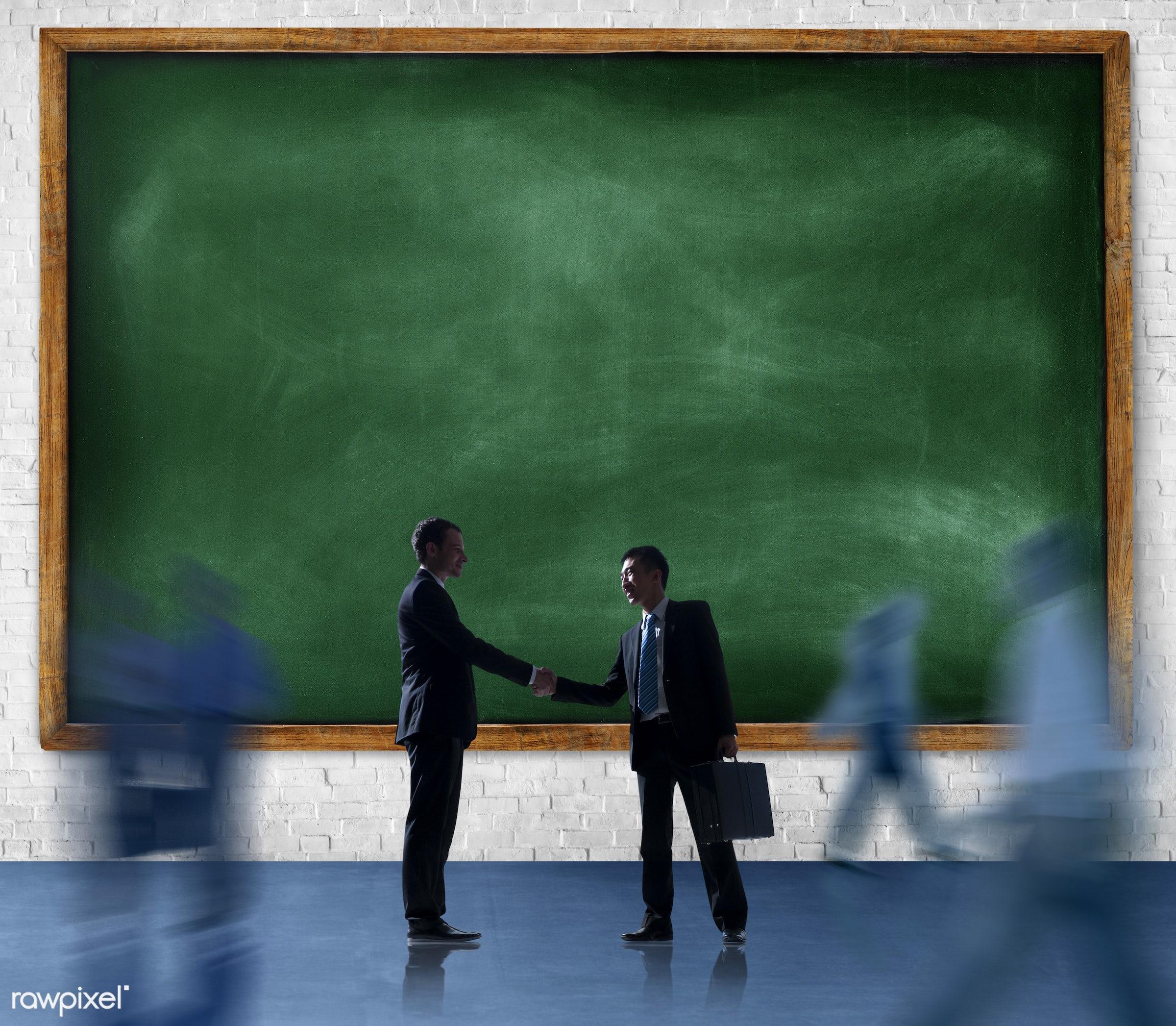agreement, blackboard, blank, brick, brick wall, business, business people, businessmen, businesswomen, collaboration,...