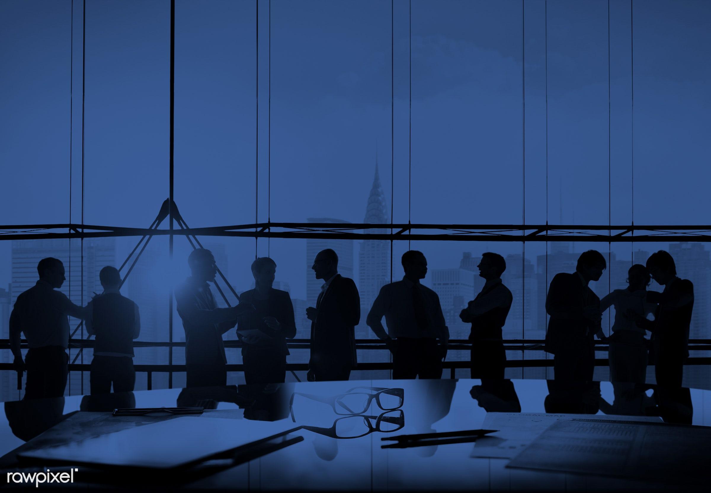 agreement, back lit, blue, board room, brainstorming, building, business, business people, businessmen, businesswomen, busy...