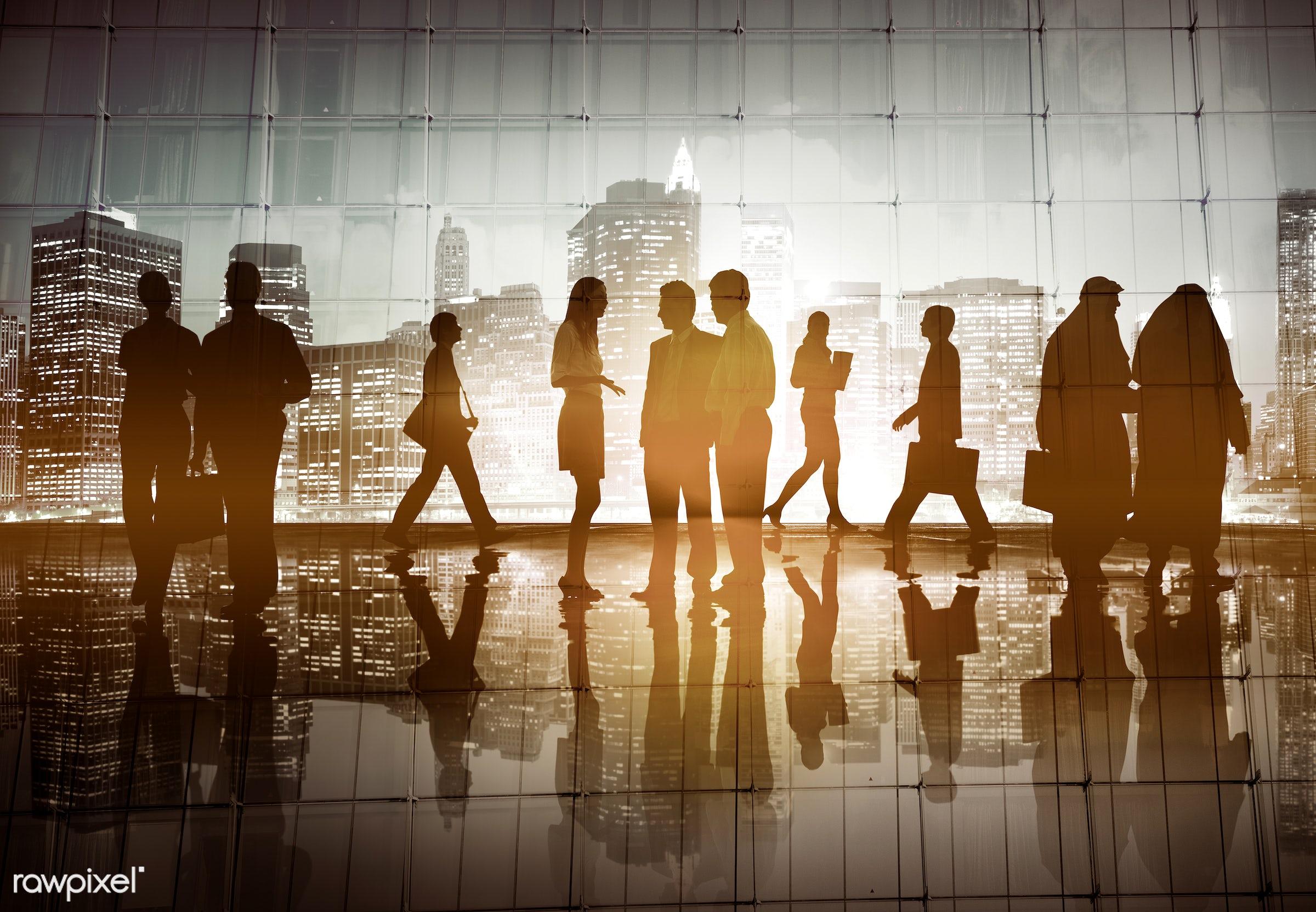 back lit, building, business, business people, businessmen, businesswomen, city, city life, cityscape, colleague,...