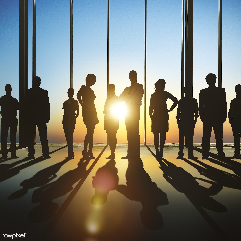 dusk, arms crossed, aspiration, back lit, business, business people, businessmen, businesswomen, colleagues, community,...