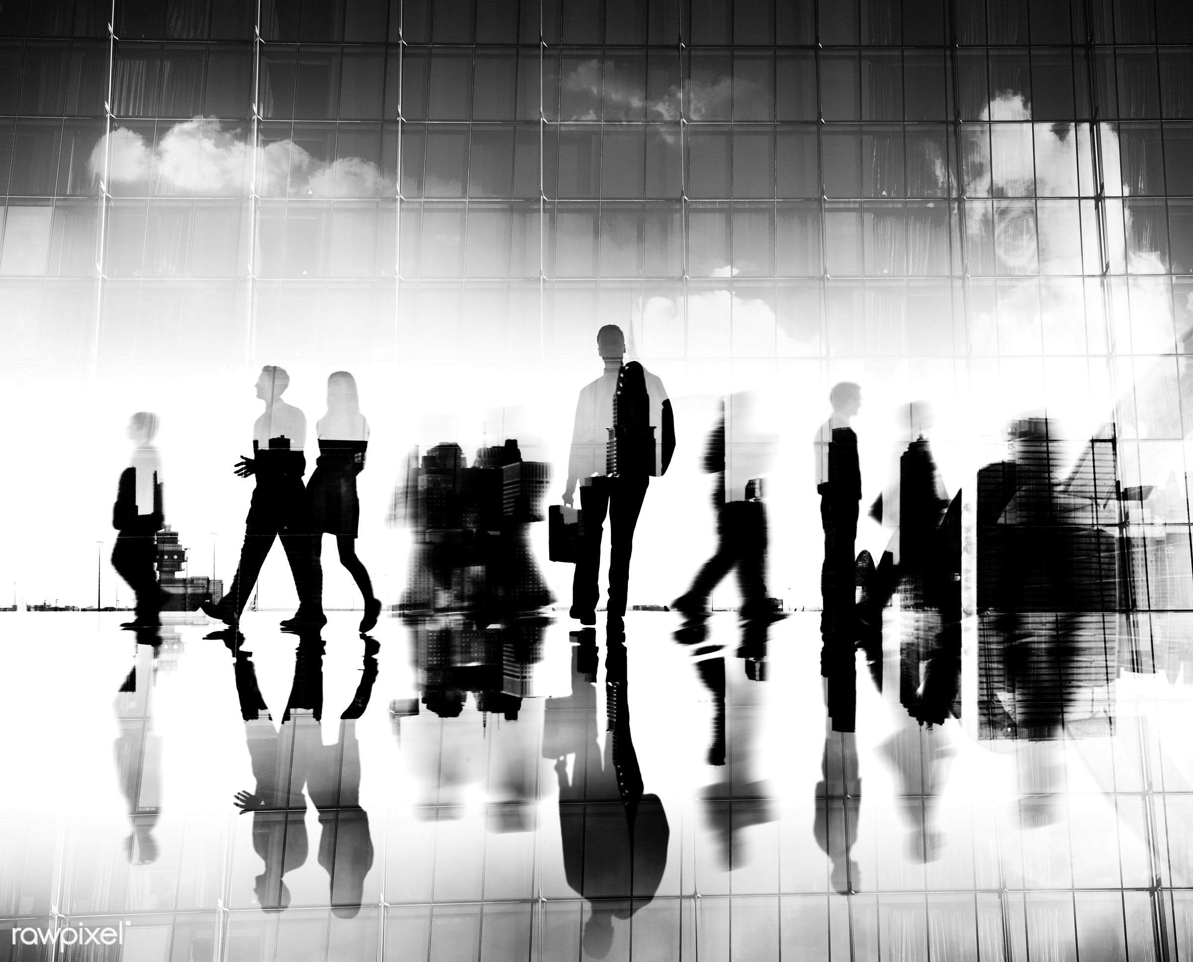 abstract, blurred motion, building, business, business people, businessmen, businesswomen, busy, city, city life, cityscape...