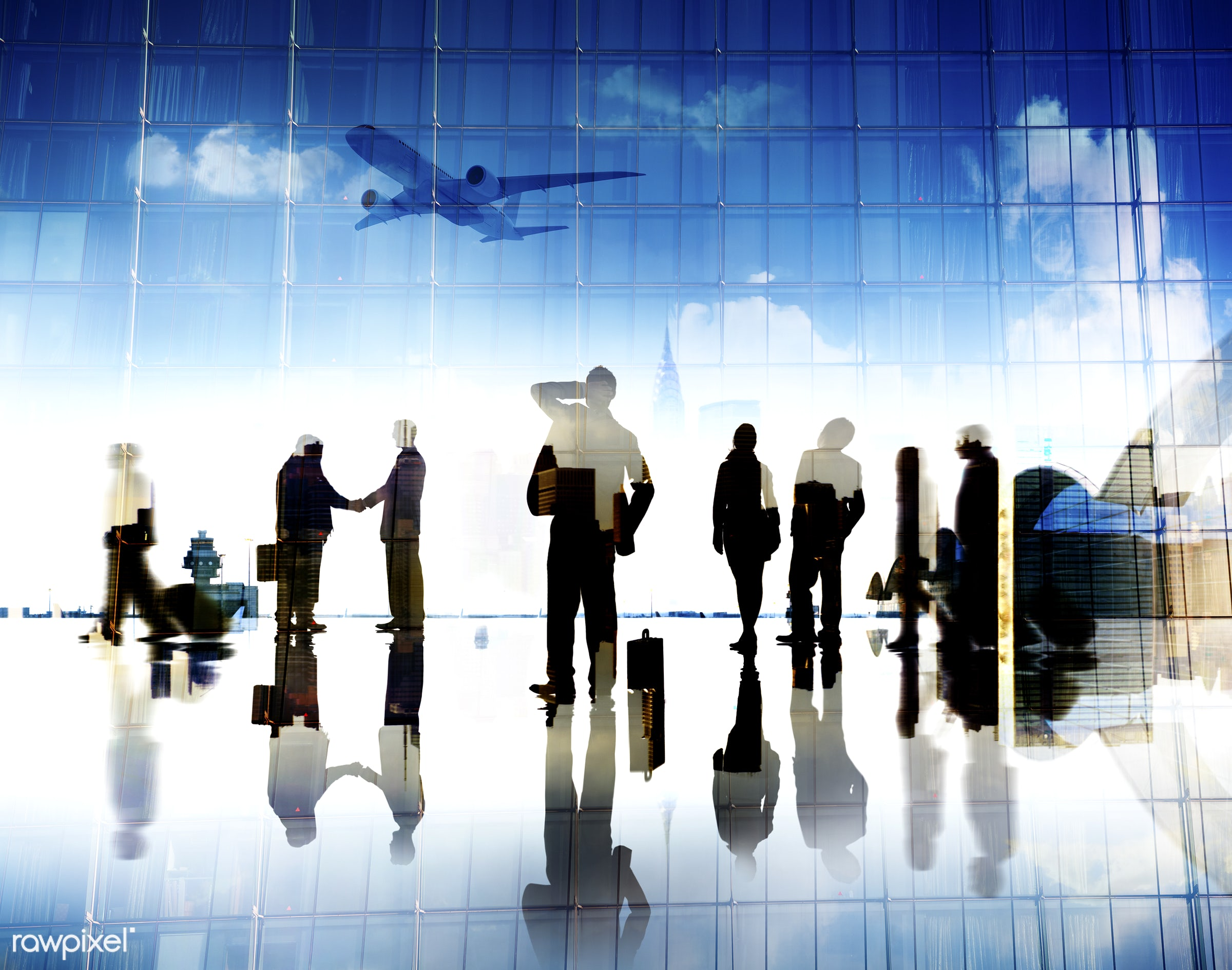 airplane, airport, arrival, back lit, building, business, business people, business travel, businessmen, businesswomen, city...