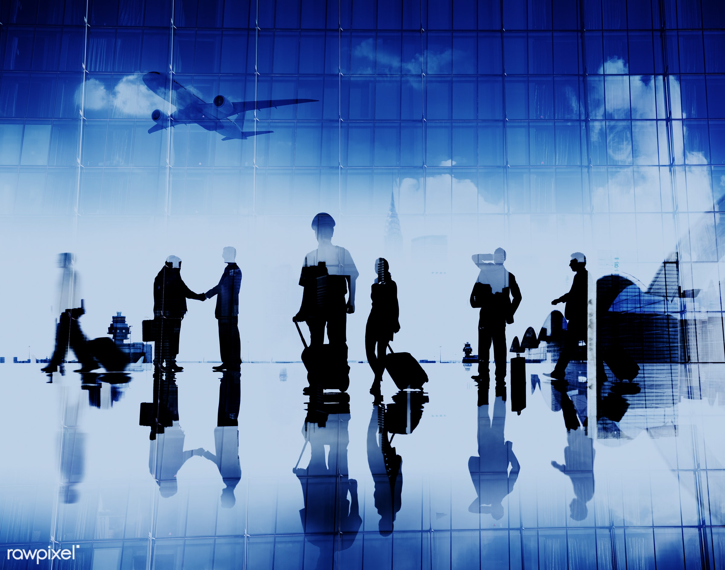 abstract, airplane, airport, arrival, back lit, building, business, business people, businessmen, businesswomen, captain,...