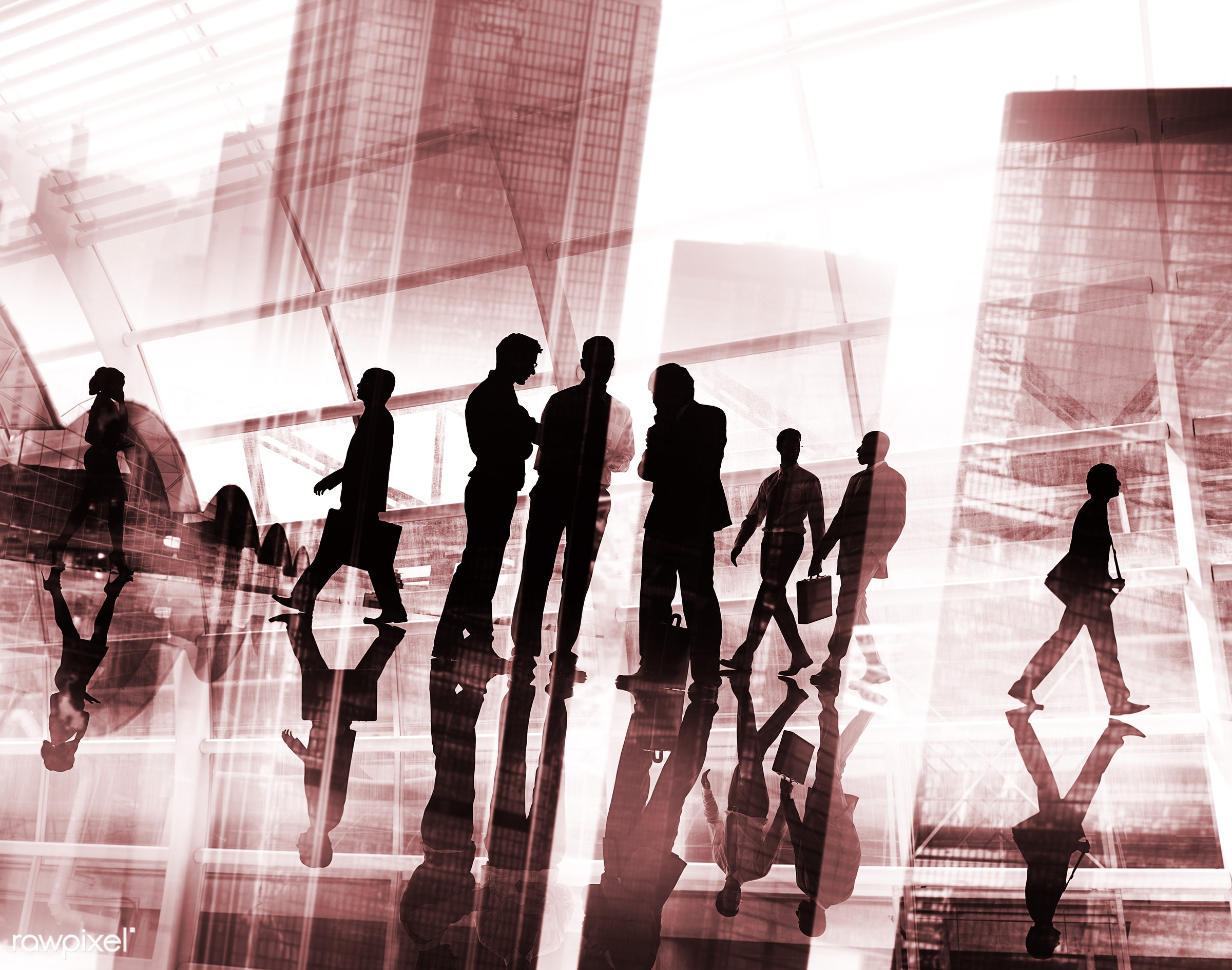 abstract, back lit, buildings, business, business people, businessmen, businesswomen, busy, city, cityscape, colleagues,...