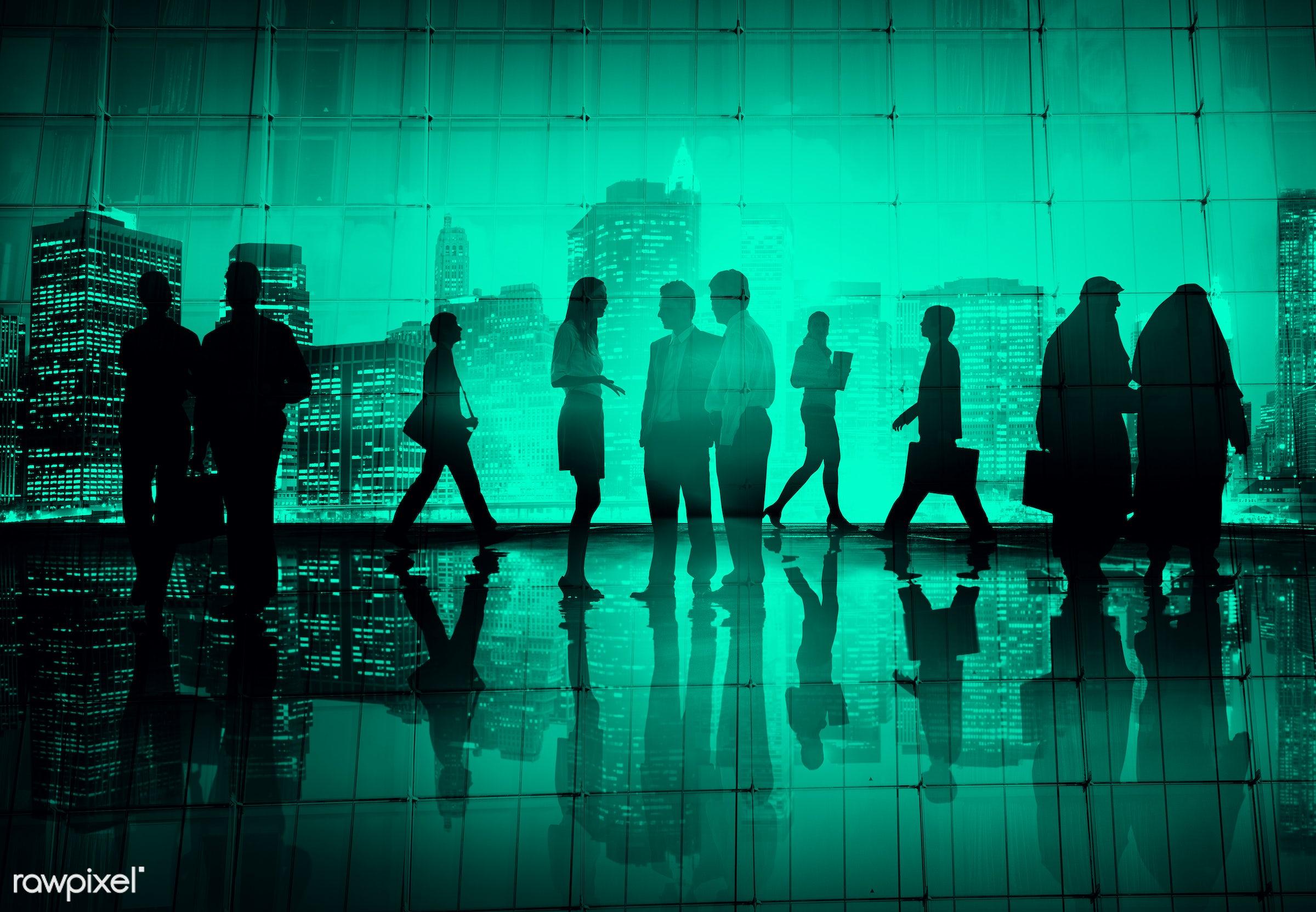 asian ethnicity, back lit, buildings, business, business people, businessmen, businesswomen, busy, city, cityscape,...