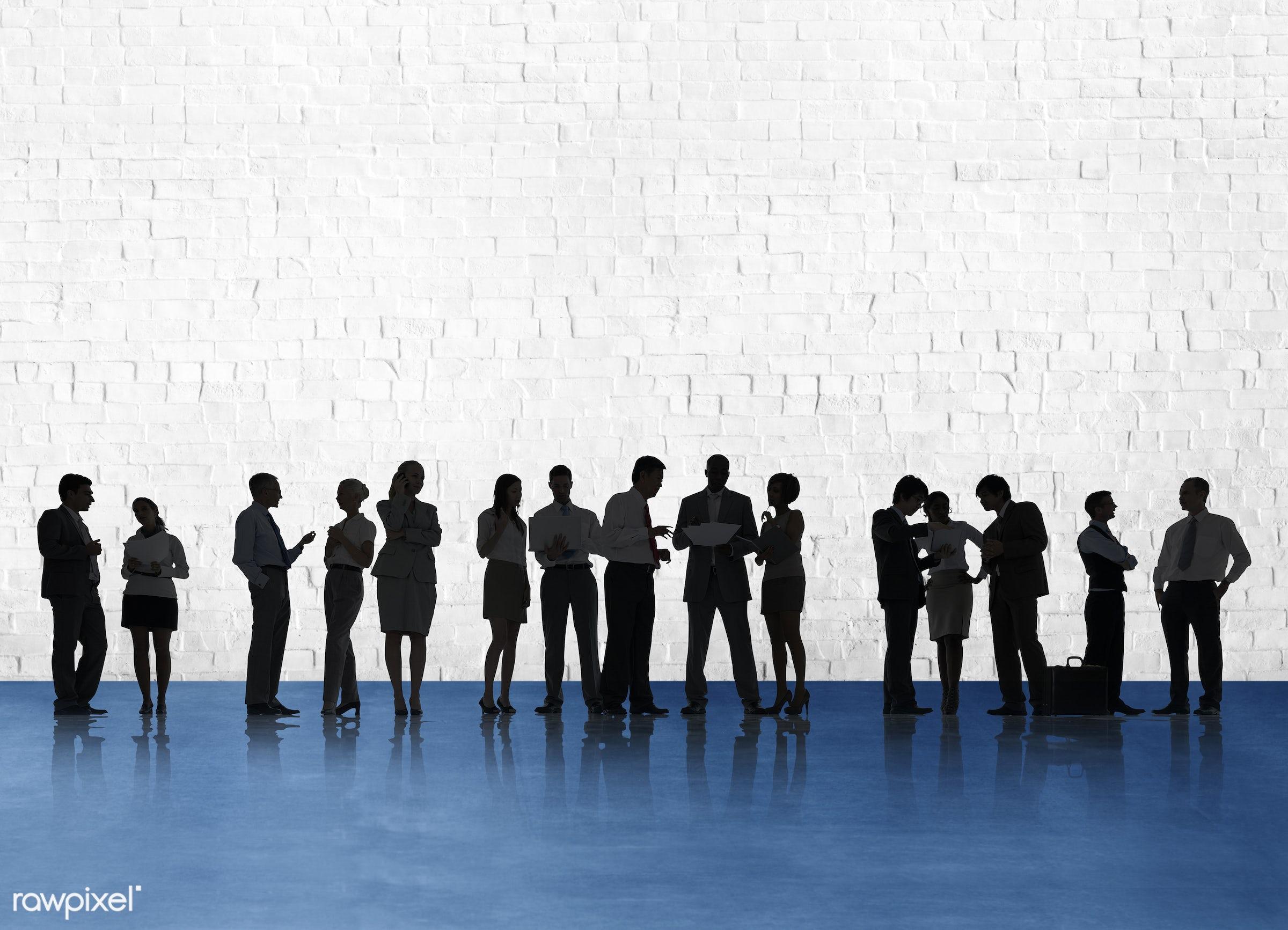blank, brick, brick wall, business, business people, businessmen, businesswomen, collaboration, colleagues, communication,...