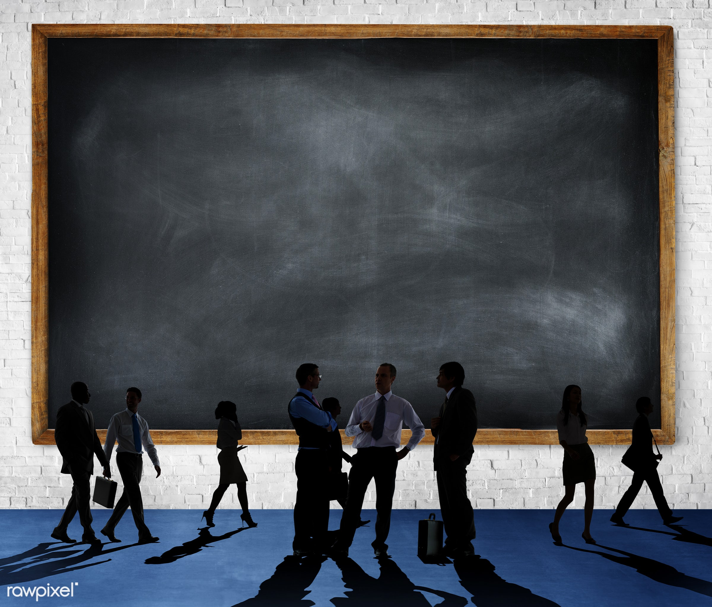 blackboard, blank, brick, brick wall, business, business people, businessmen, businesswomen, collaboration, colleagues,...