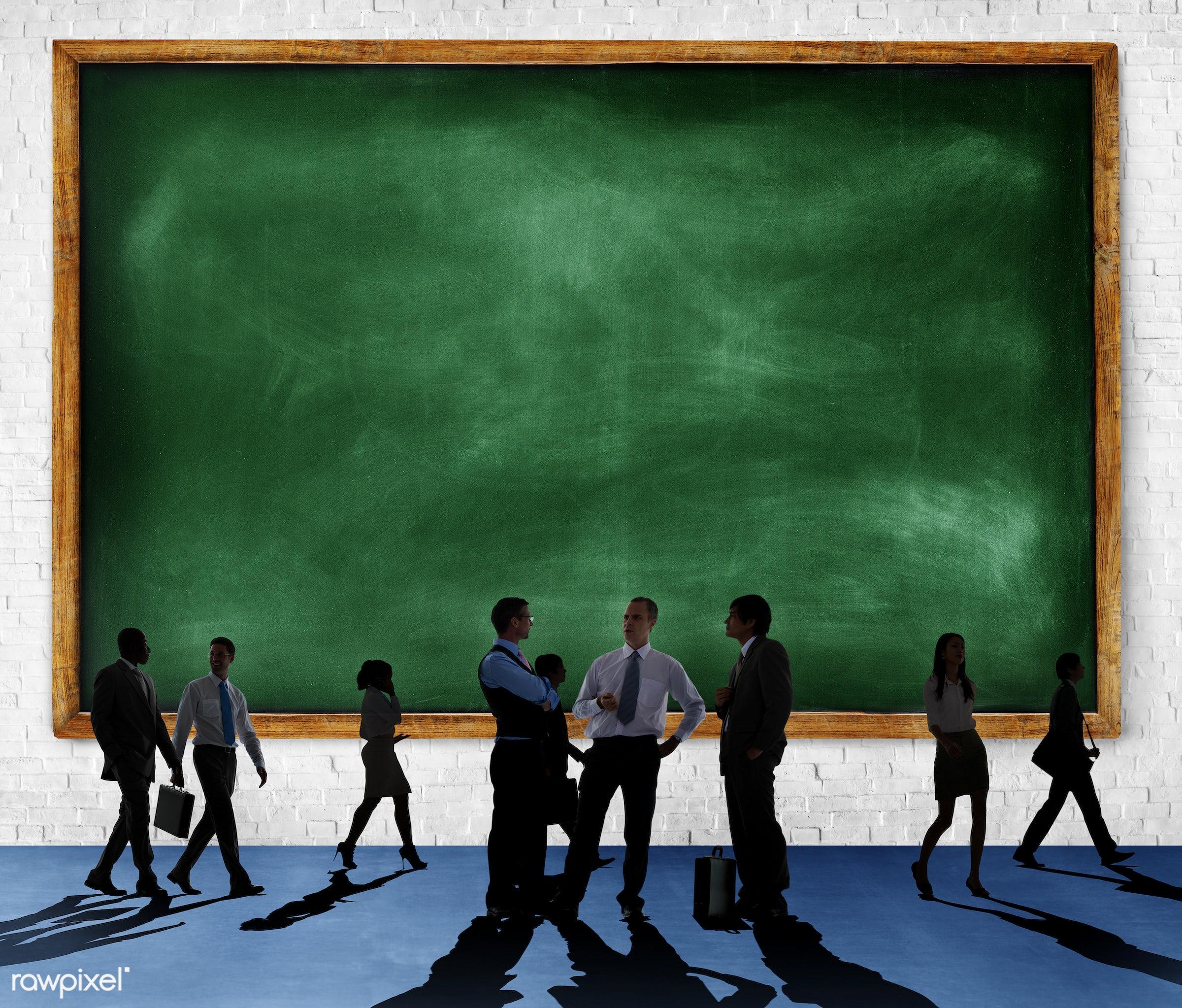 blackboard, blank, brick, brick wall, business, business people, businessmen, businesswomen, collaboration, colleagues,...