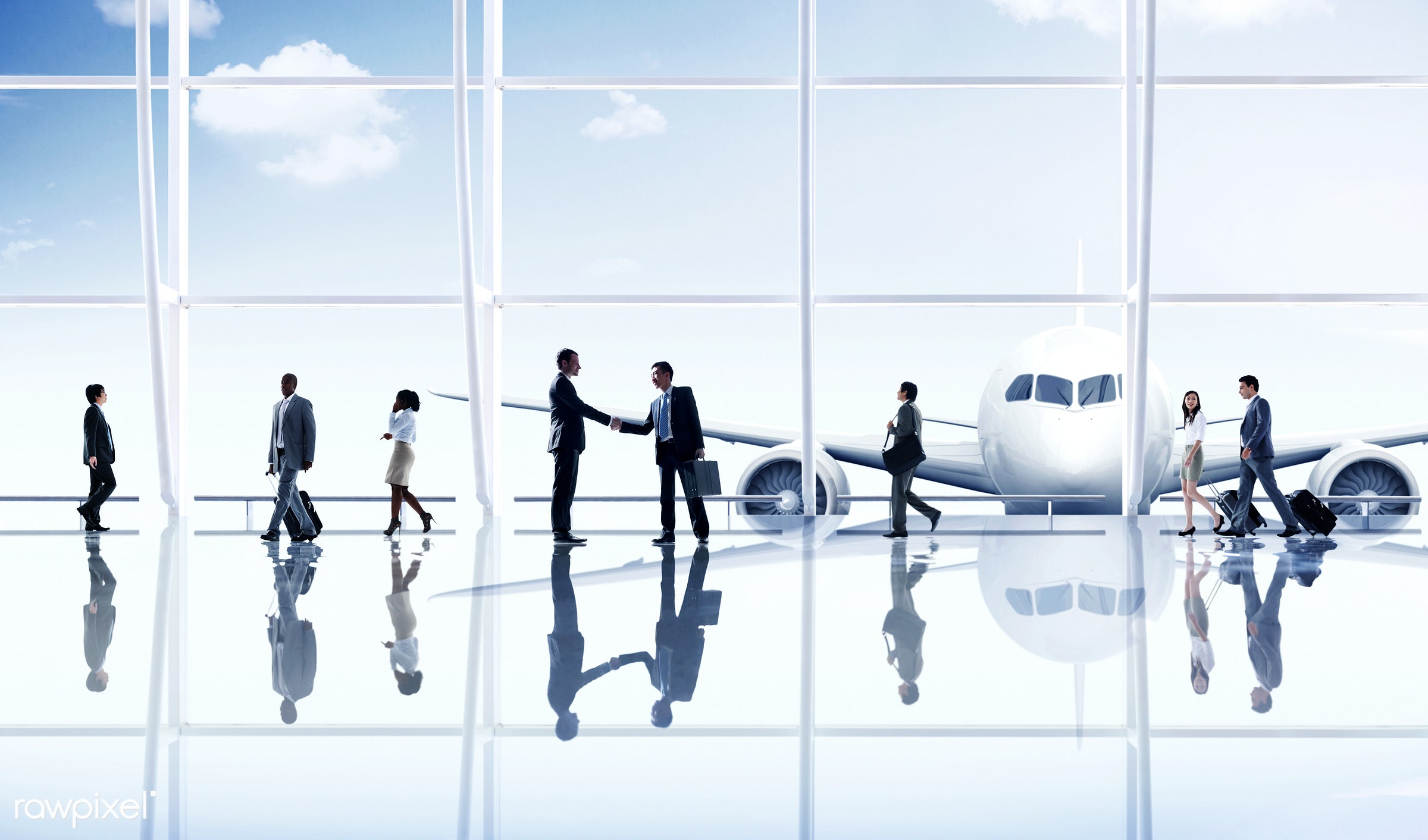 african, african descent, aircraft, airplane, airport, asian, asian ethnicity, business people, business travel, business...