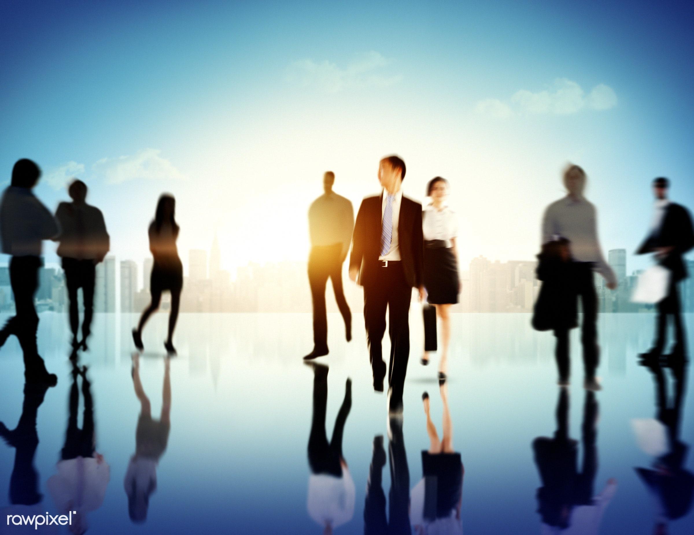 backlit, blurred, blurred motion, building, business, business people, business travel, businessmen, businesswomen, city,...