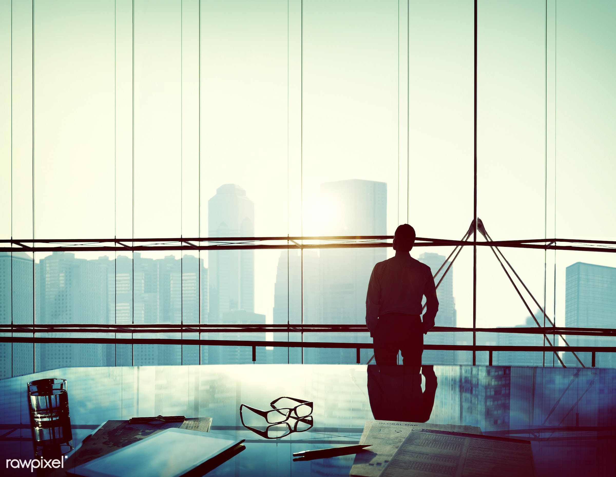 alone, aspiration, backlit, boss, building, business, businessman, city, cityscape, contemplating, contemplation, day...