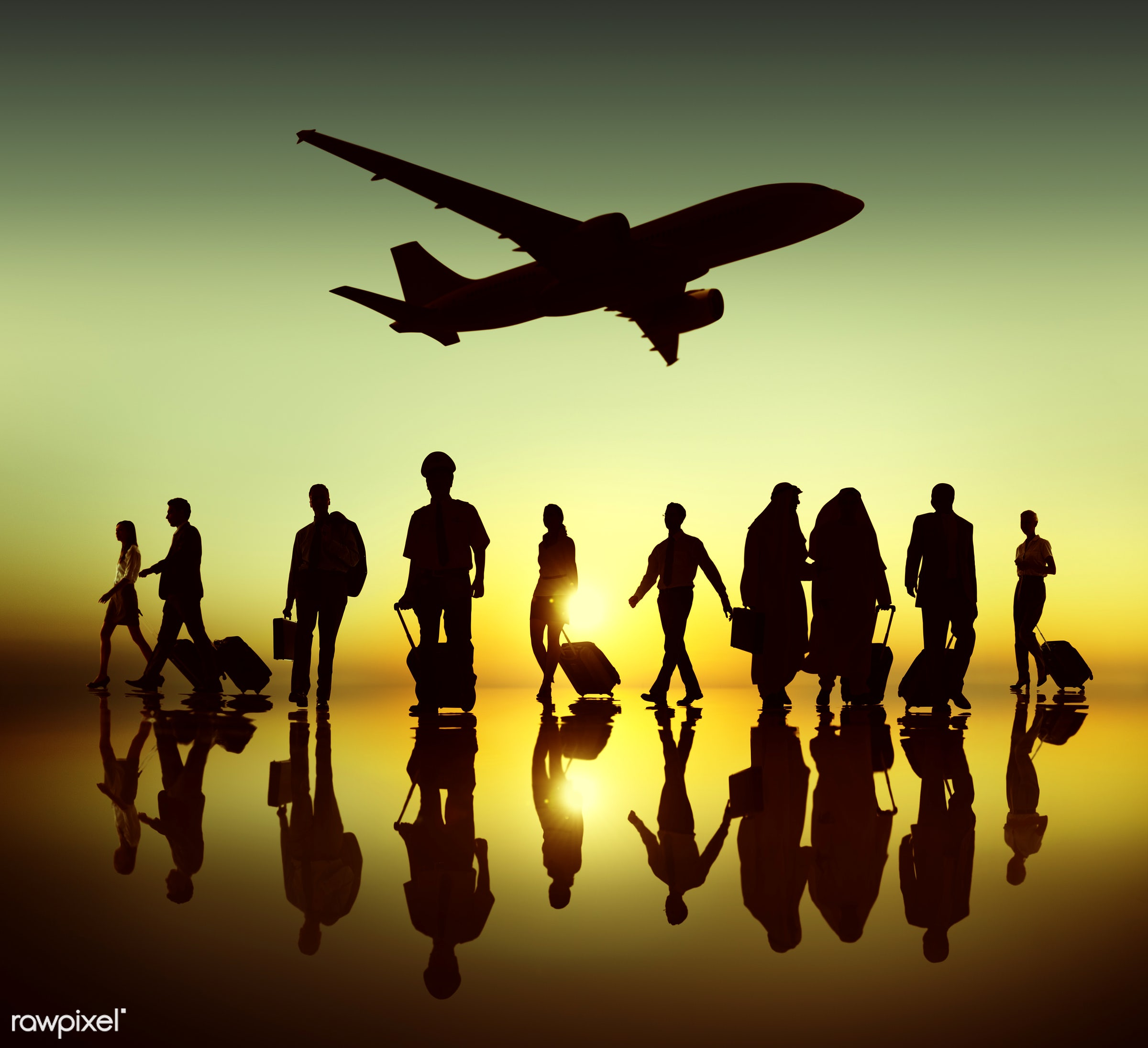 3d, airline, airplane, back lit, business, business people, business travel, businessmen, businesswomen, corporate,...