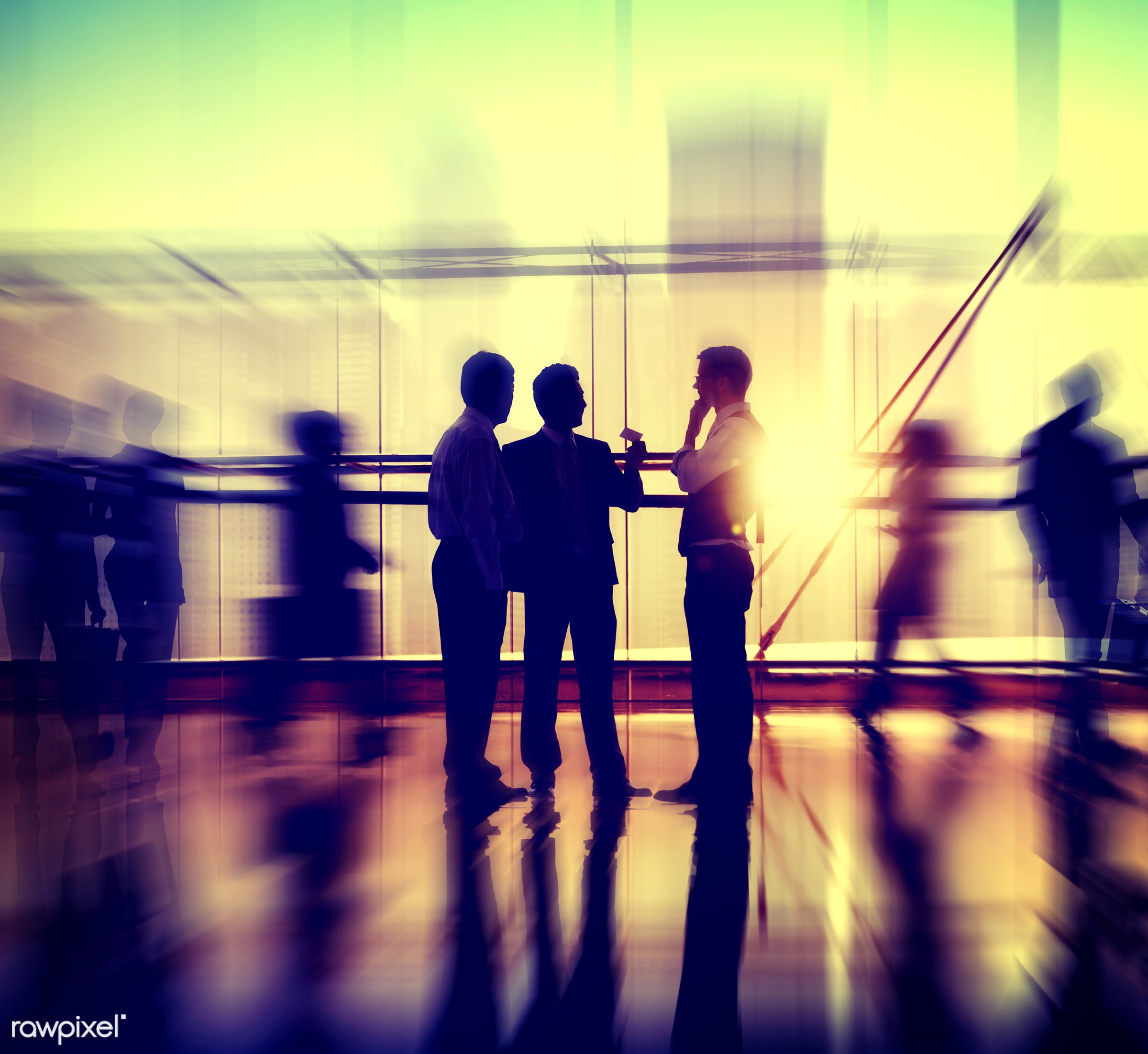 dusk, activity, adult, agreement, blurred motion, briefcase, business, business people, business team, businessmen,...