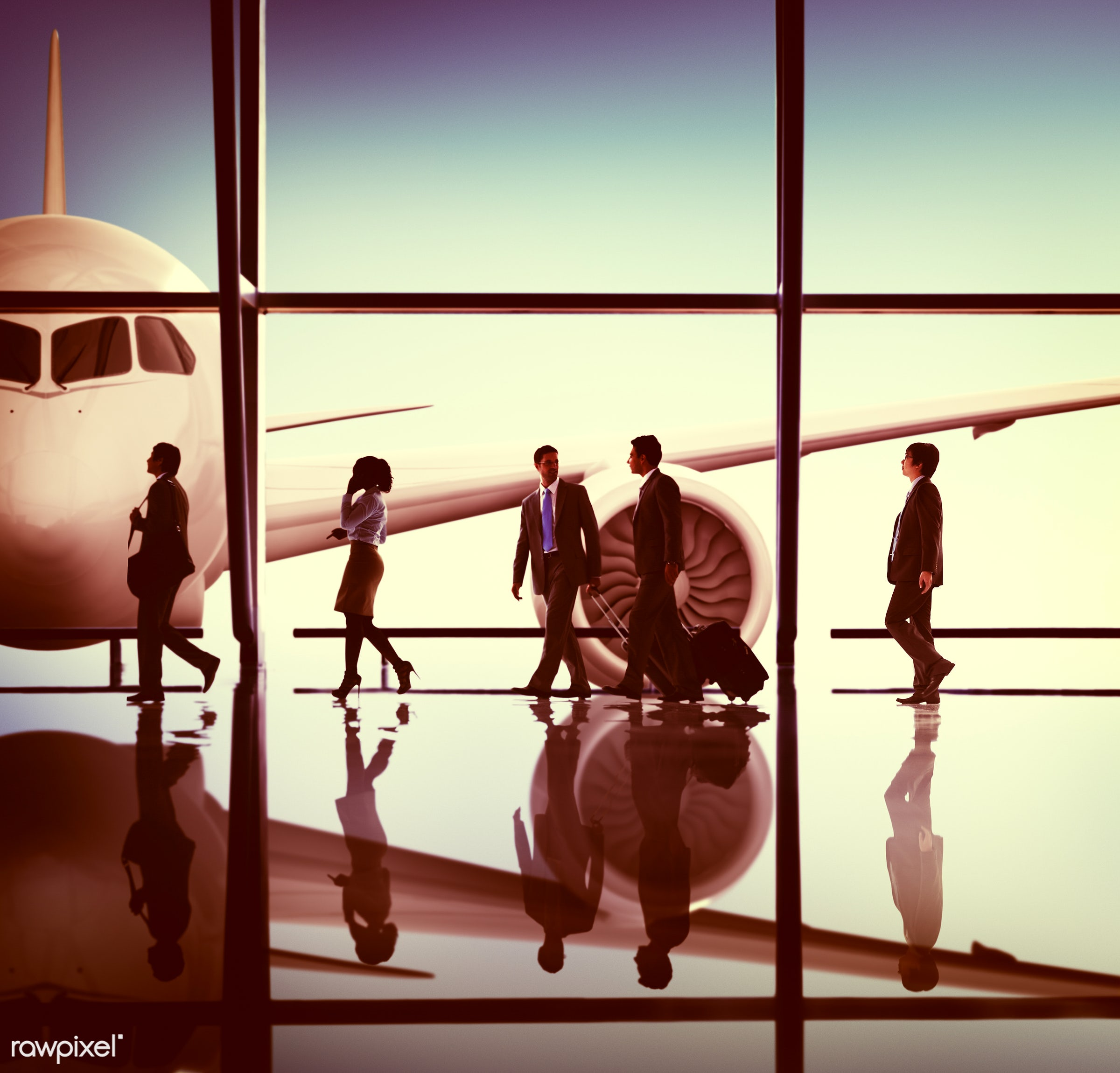 3d, african descent, aircraft, airplane, airport, architecture, asian ethnicity, baggage, business, business people,...