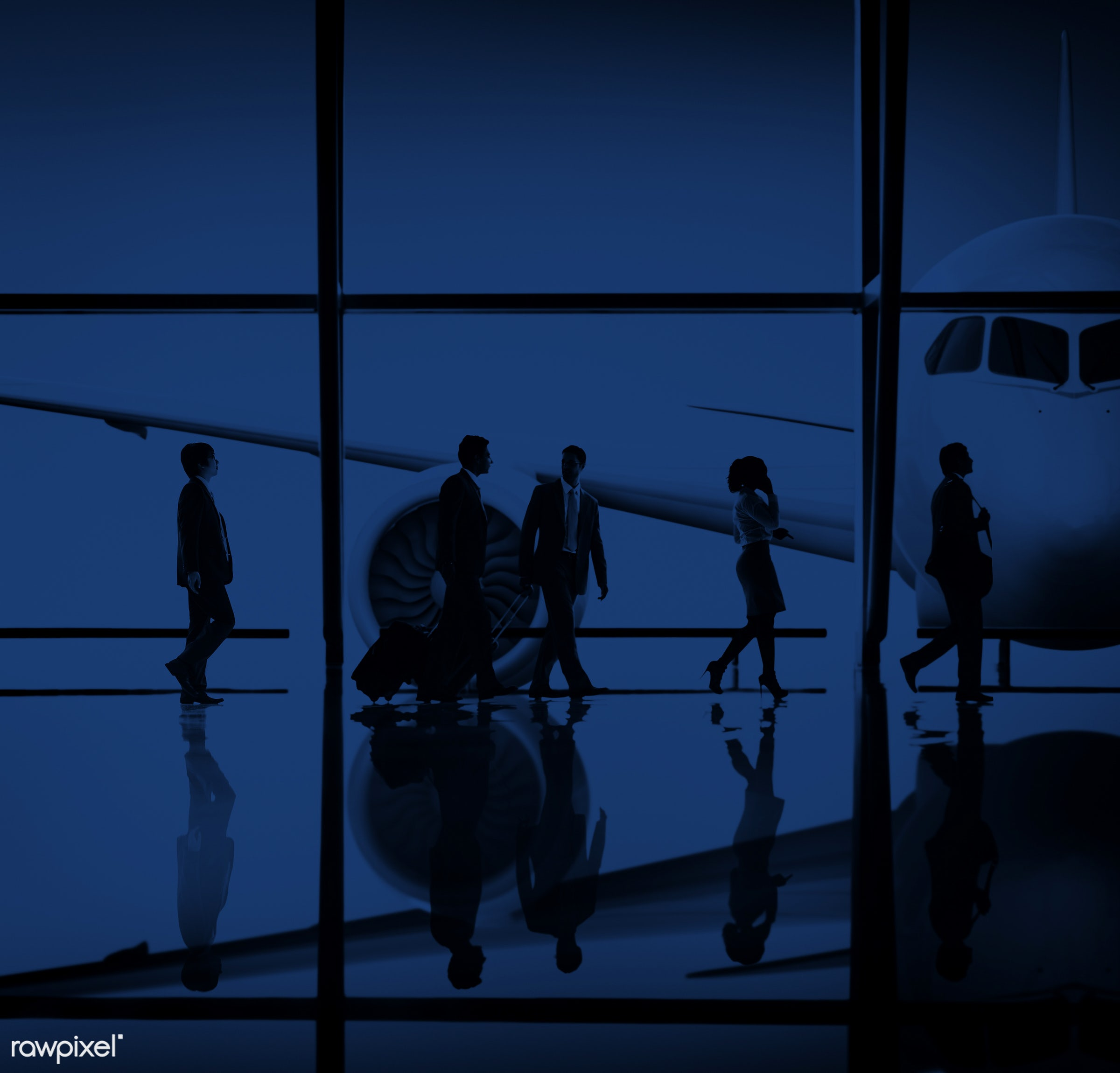 3d, african descent, aircraft, airplane, airport, architecture, asian ethnicity, baggage, blue, business, business people,...
