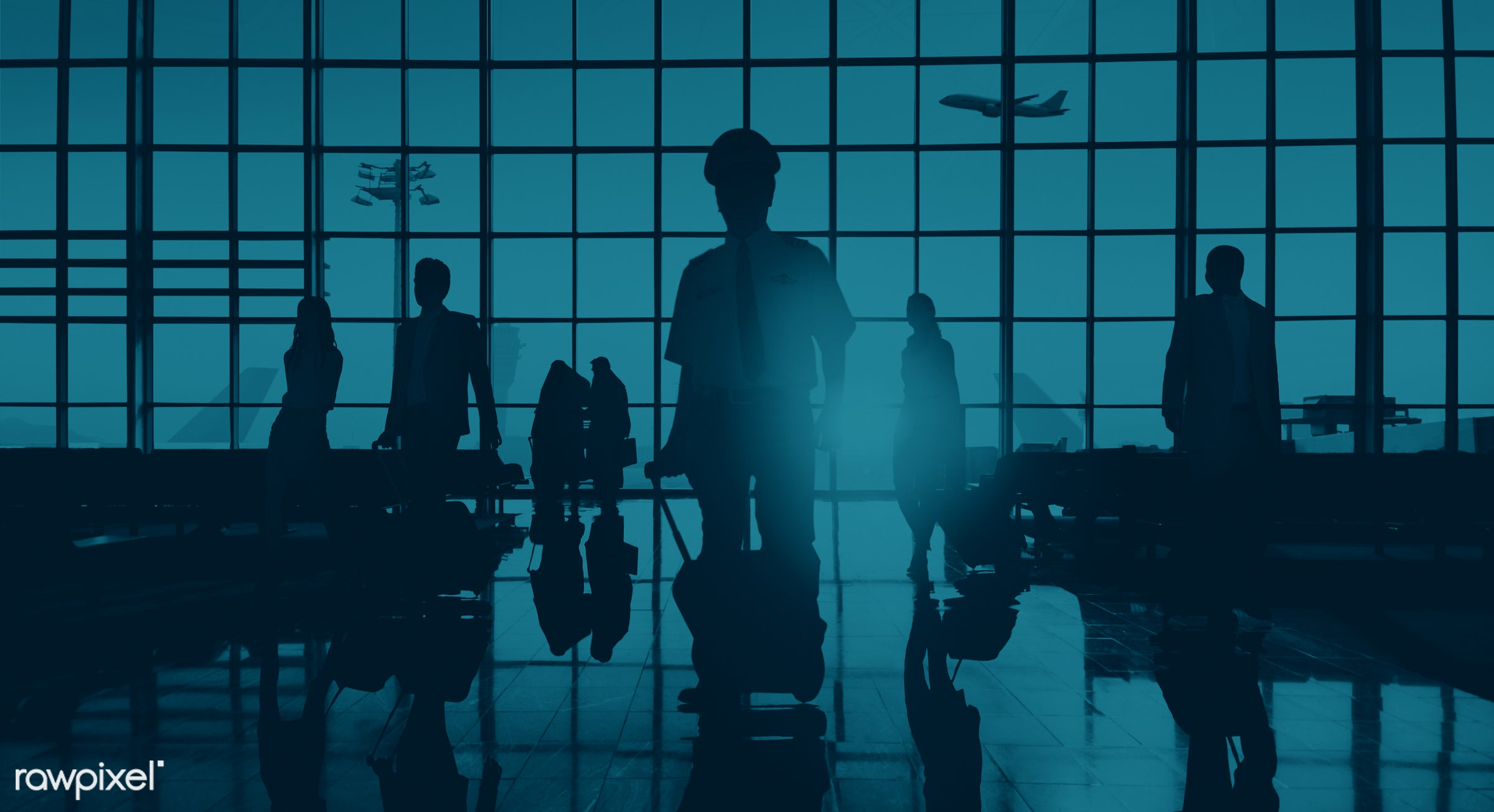 3d, airline, airplane, airport, back lit, blue, business, business people, business travel, businessmen, businesswomen,...