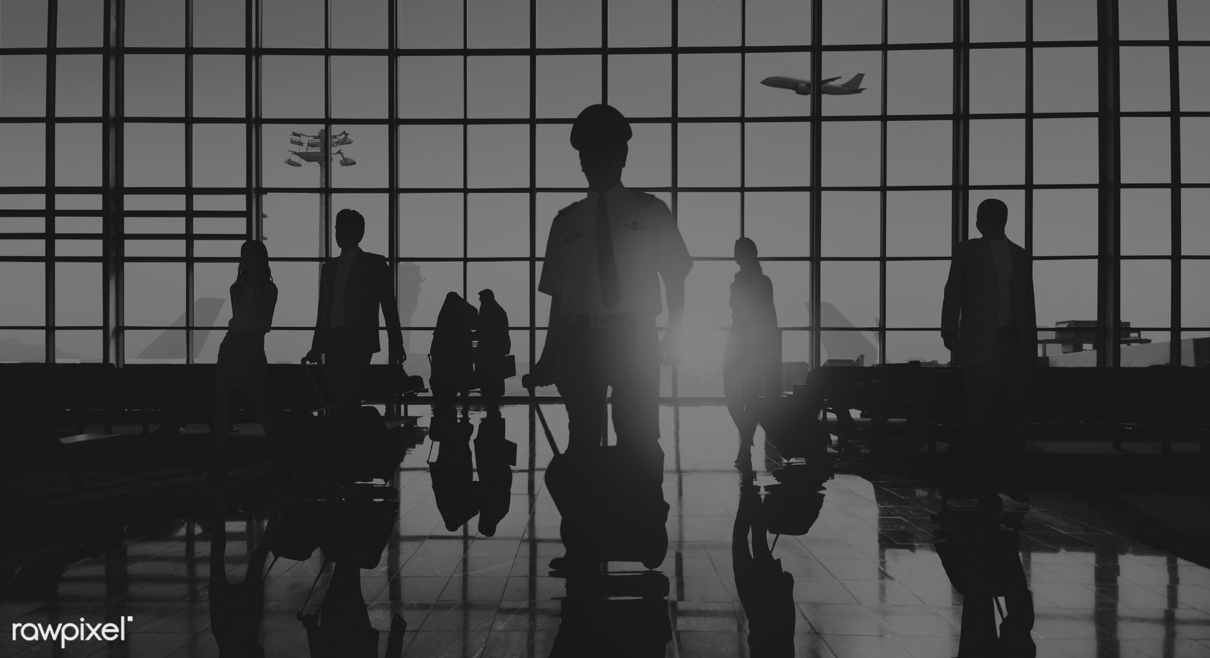 3d, airline, airplane, airport, back lit, business, business people, business travel, businessmen, businesswomen, commuter,...