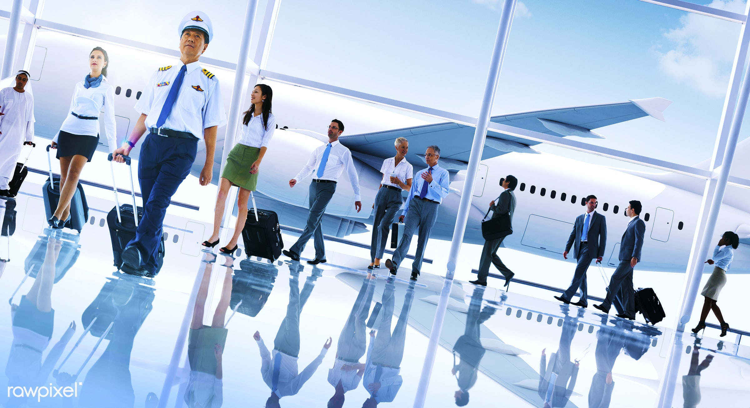 african descent, airplane, airport, asian ethnicity, business people, business travel, businessmen, businesswomen, cabin...