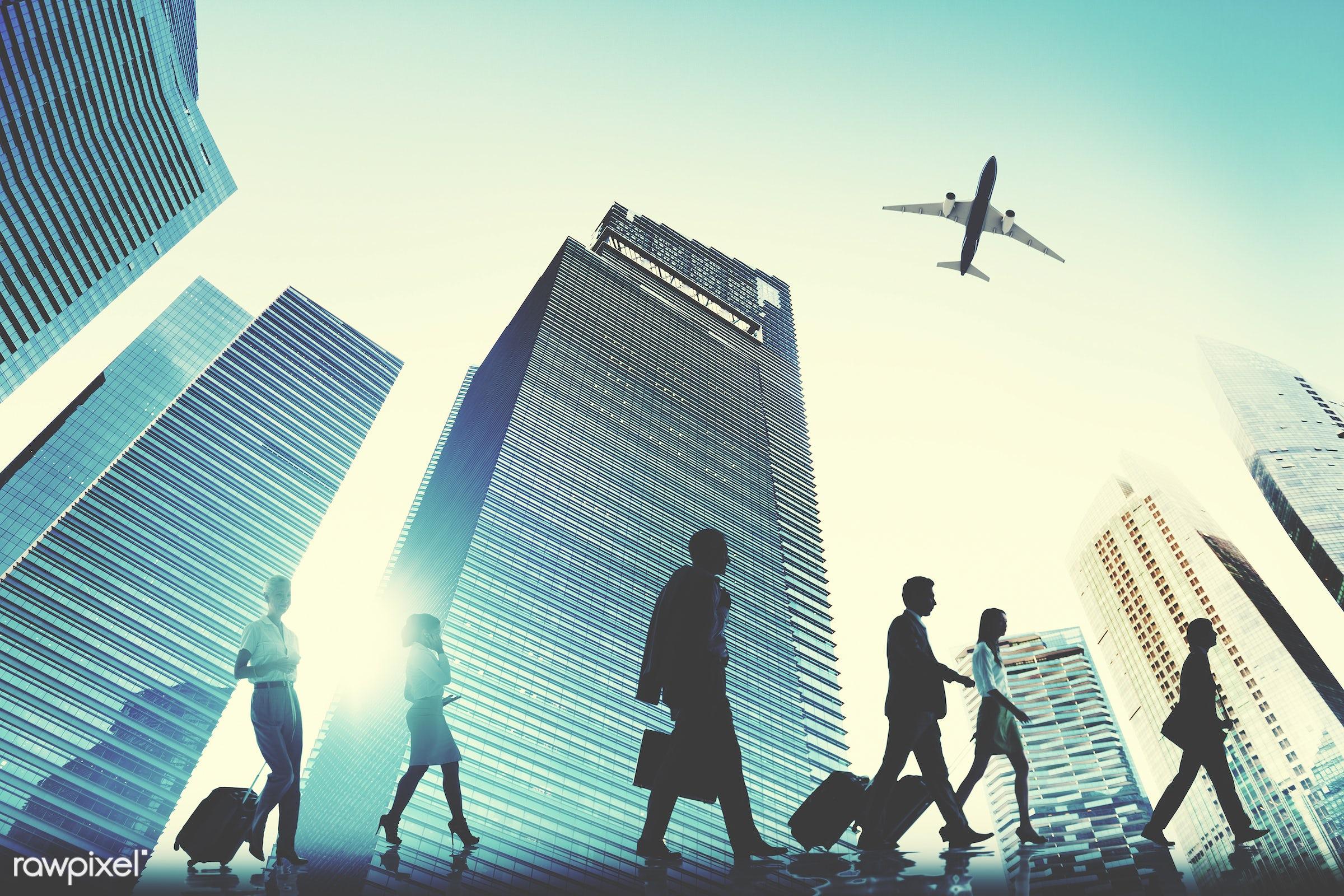 airplane, brainstorming, building, business, business people, businessmen, businesswomen, busy, city, cityscape,...