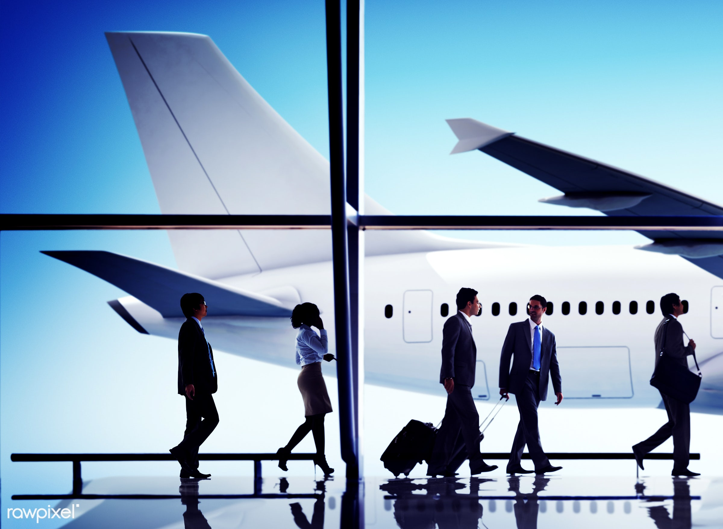 architecture, 3d, african descent, aircraft, airplane, airport, asian ethnicity, baggage, business, business people,...