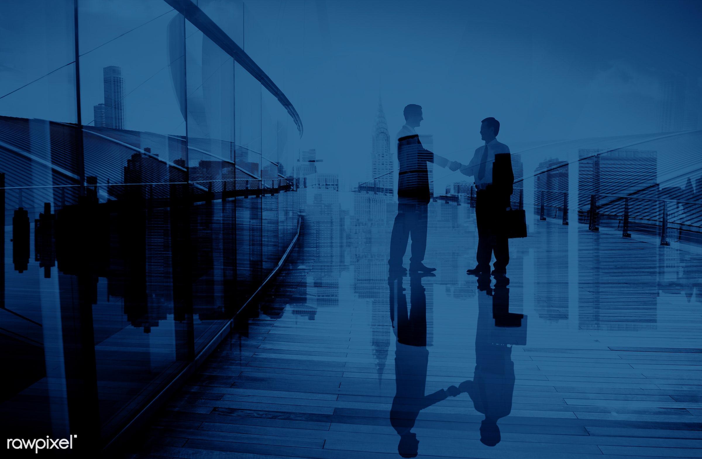 achievement, agreement, asian ethnicity, back lit, blue, brainstorming, building, business, business people, businessmen,...