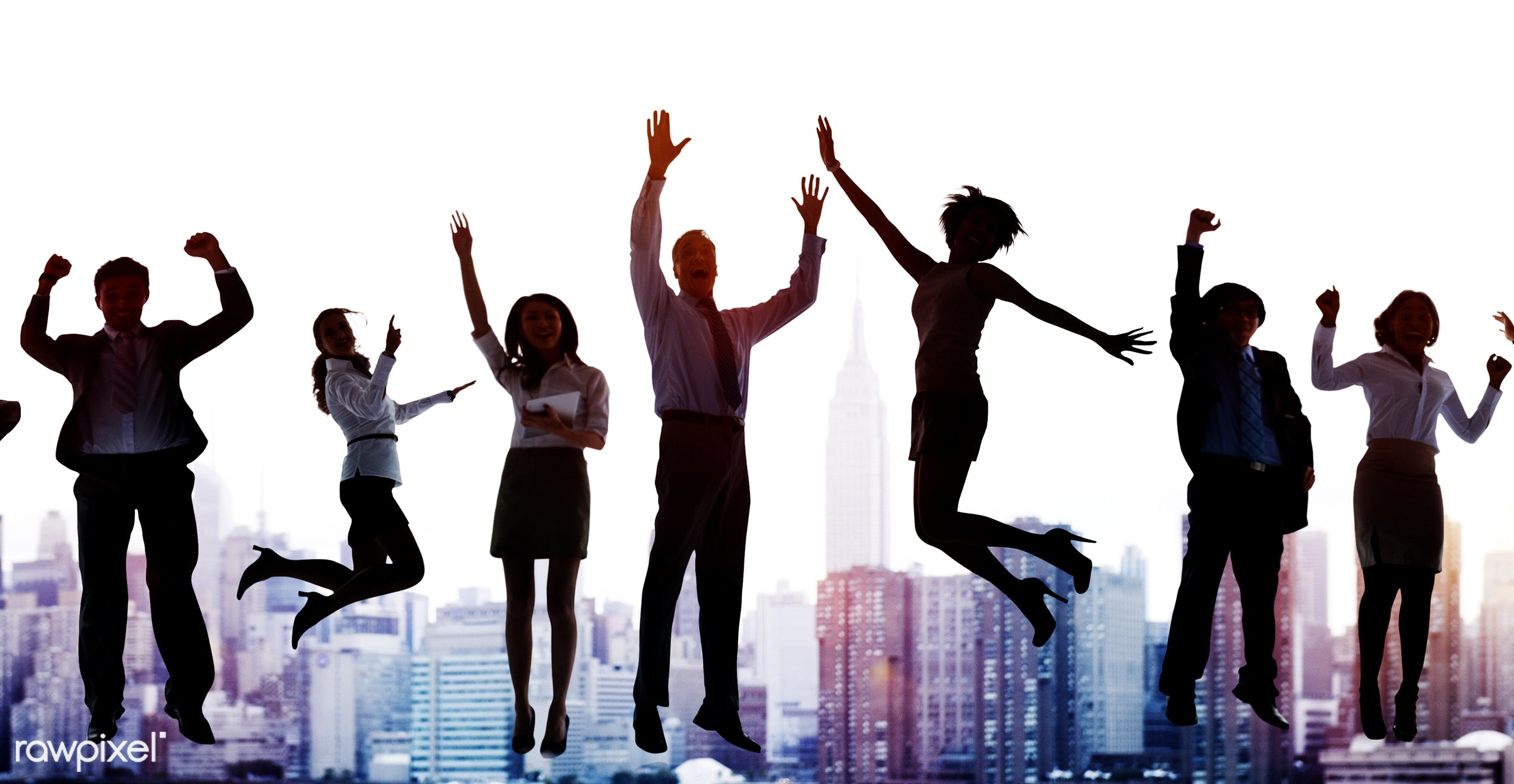accomplishment, achievement, african descent, arms outstretched, arms raised, asian ethnicity, back lit, building, business...