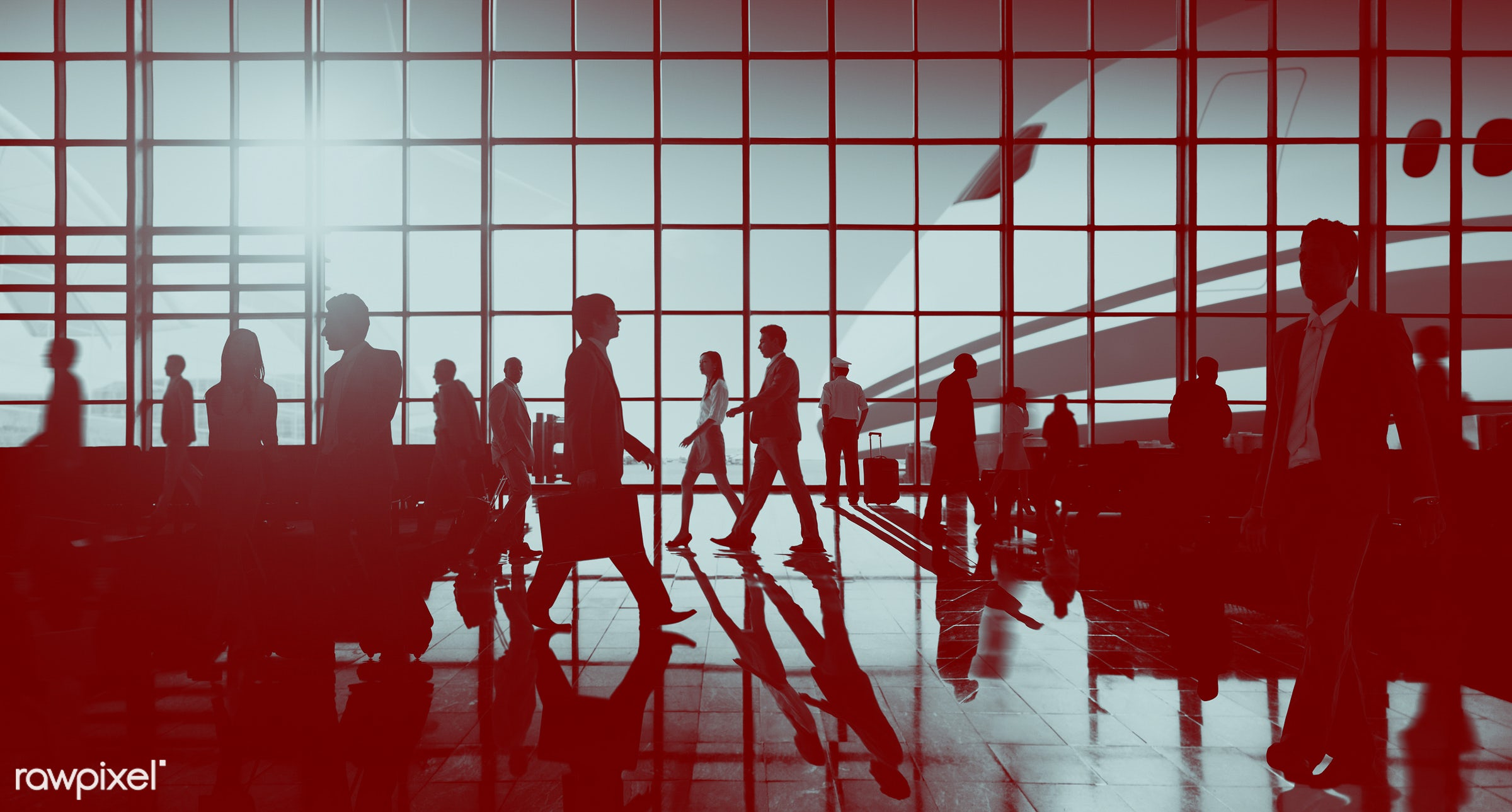 airplane, airport, airport lounge, baggage, briefcase, business, business people, business travel, business trip,...