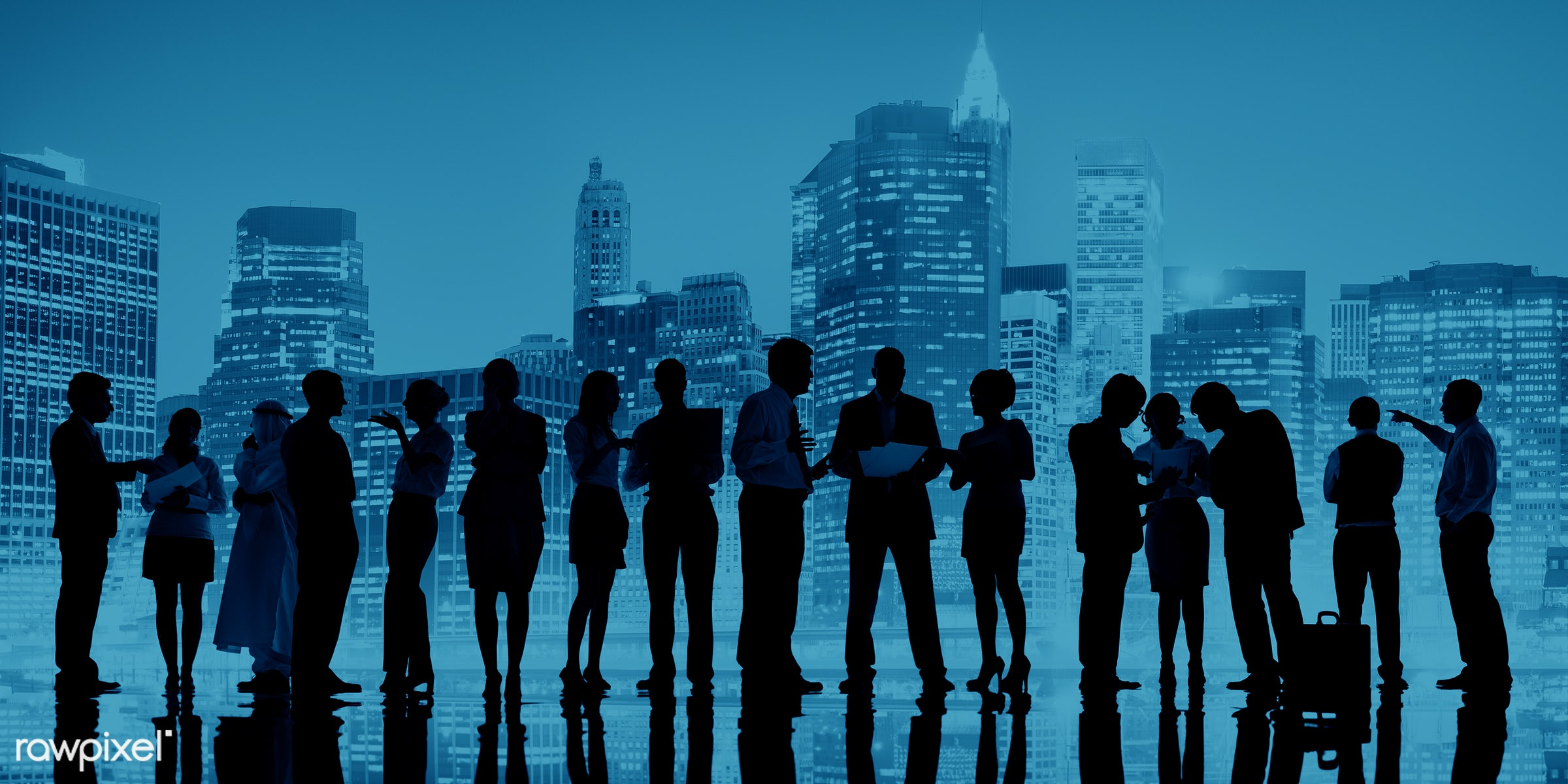 abstract, back lit, blue, brainstorming, building, business, business people, businessmen, businesswomen, city, cityscape,...