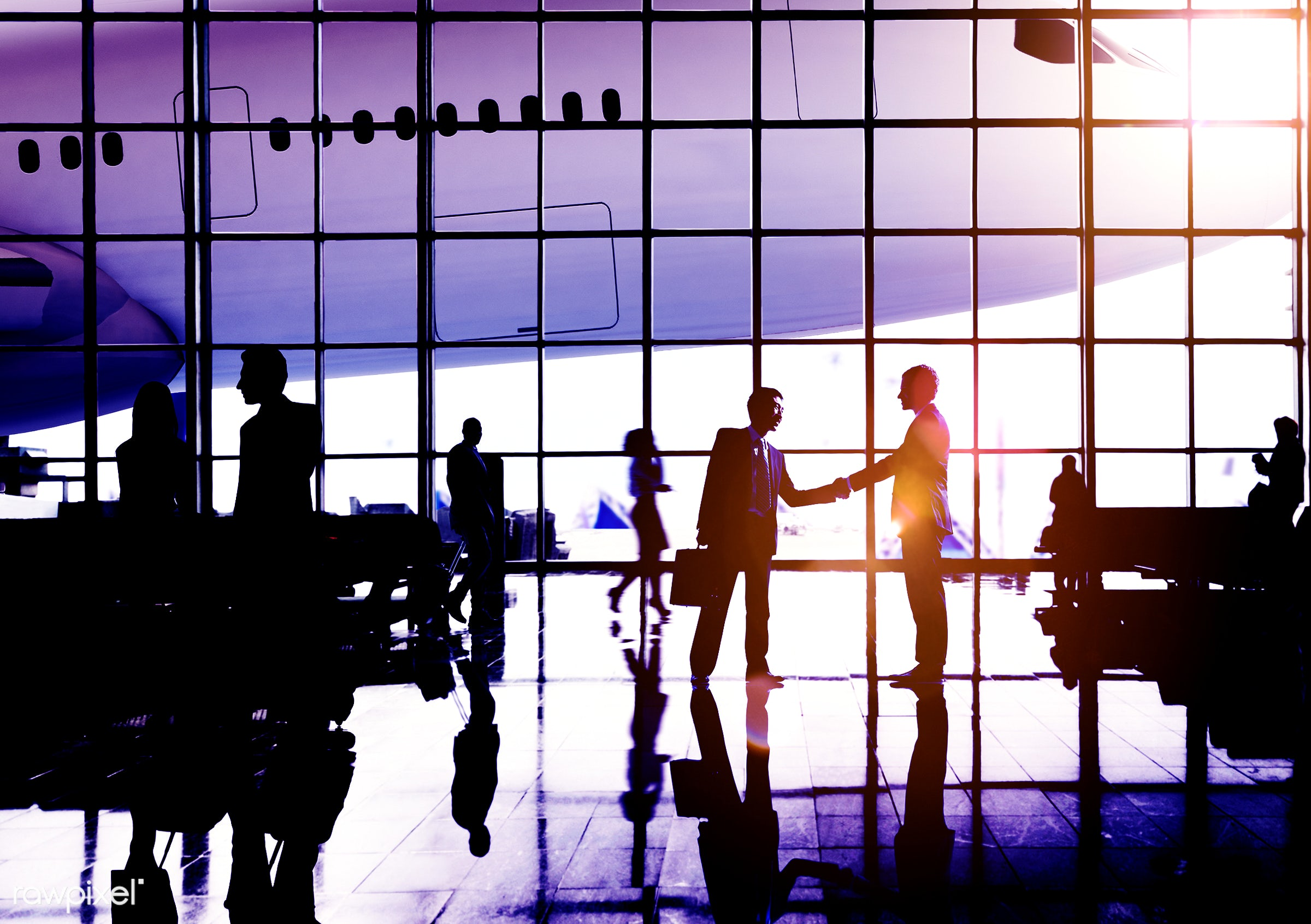 agreement, aircraft, airline, airplane, airport, arrival, back lit, business, business people, business travel, businessmen...