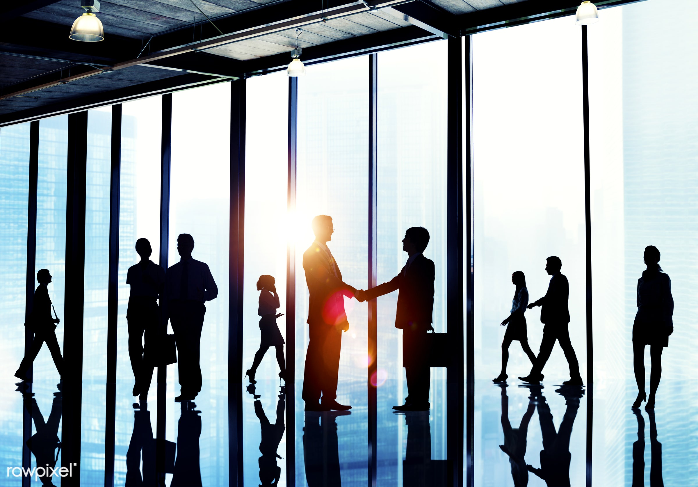 agreement, back lit, brainstorming, briefcase, building, business, business people, businessmen, businesswomen, city,...