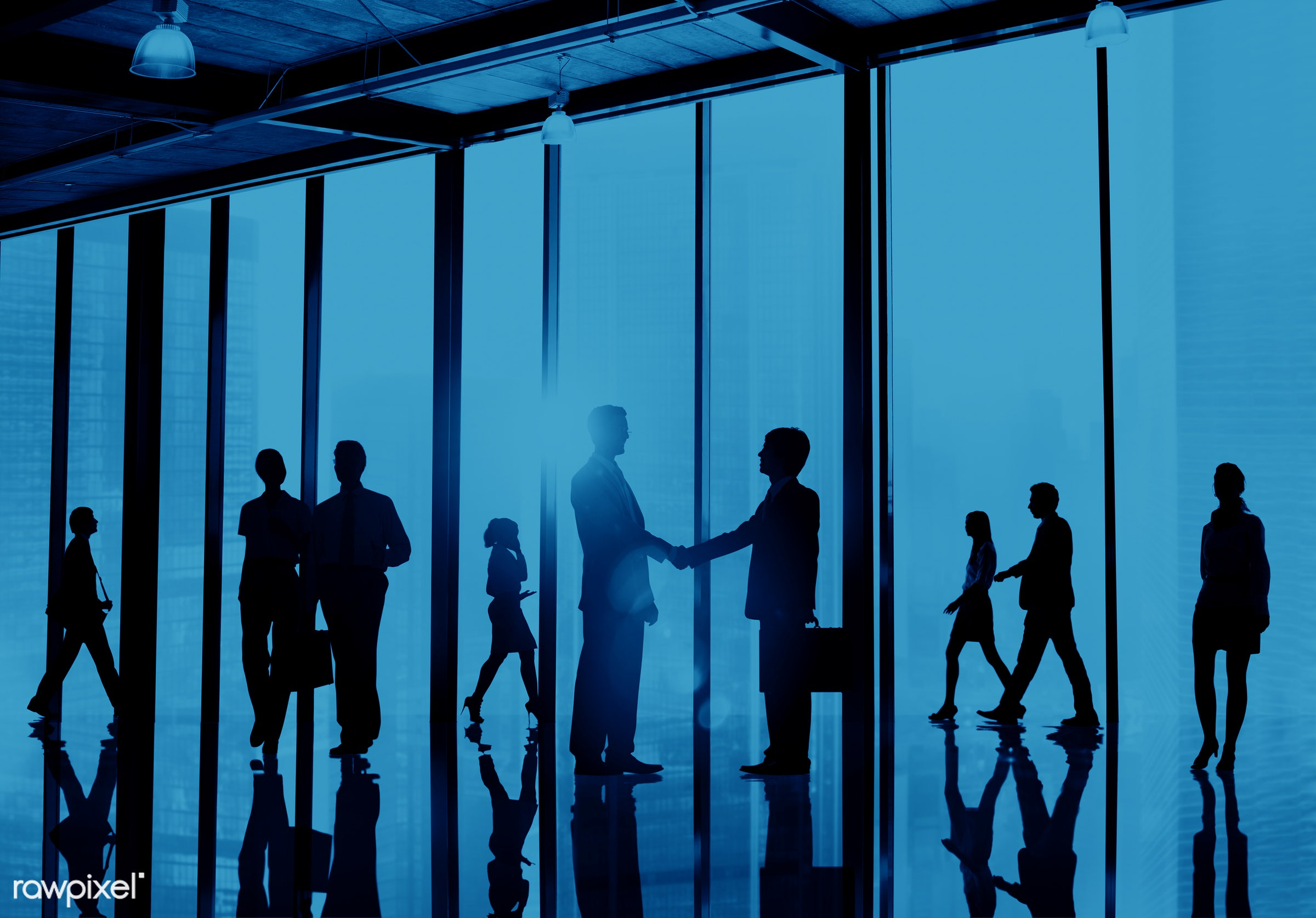 agreement, back lit, blue, brainstorming, briefcase, building, business, business people, businessmen, businesswomen, city,...