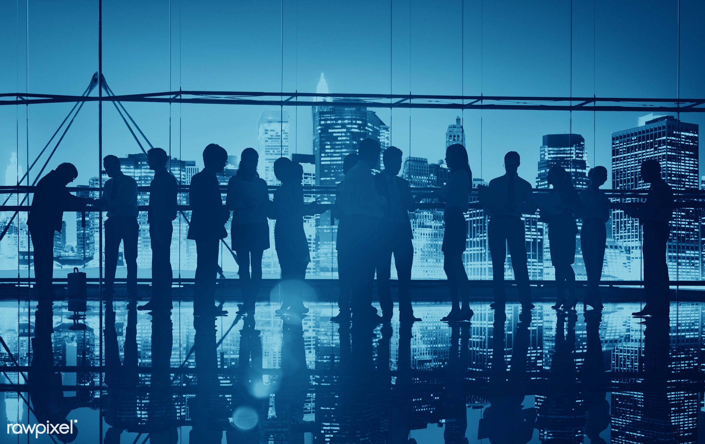 abstract, back lit, blue, bowing, brainstorming, building, business, business people, businessmen, businesswomen, city,...
