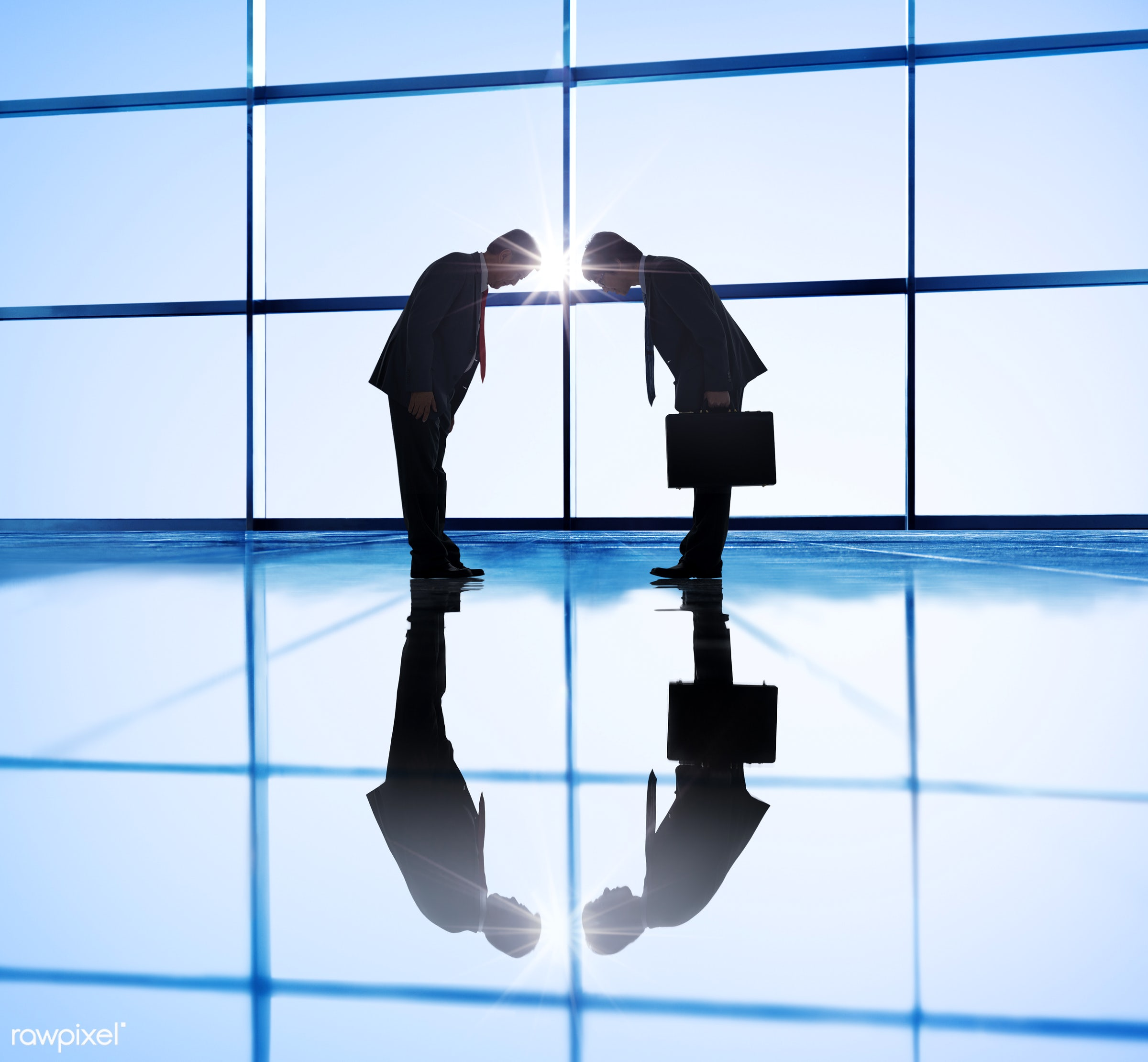 achievement, adult, agreement, back lit, bowing, briefcase, building, business, business meeting, business partner, business...