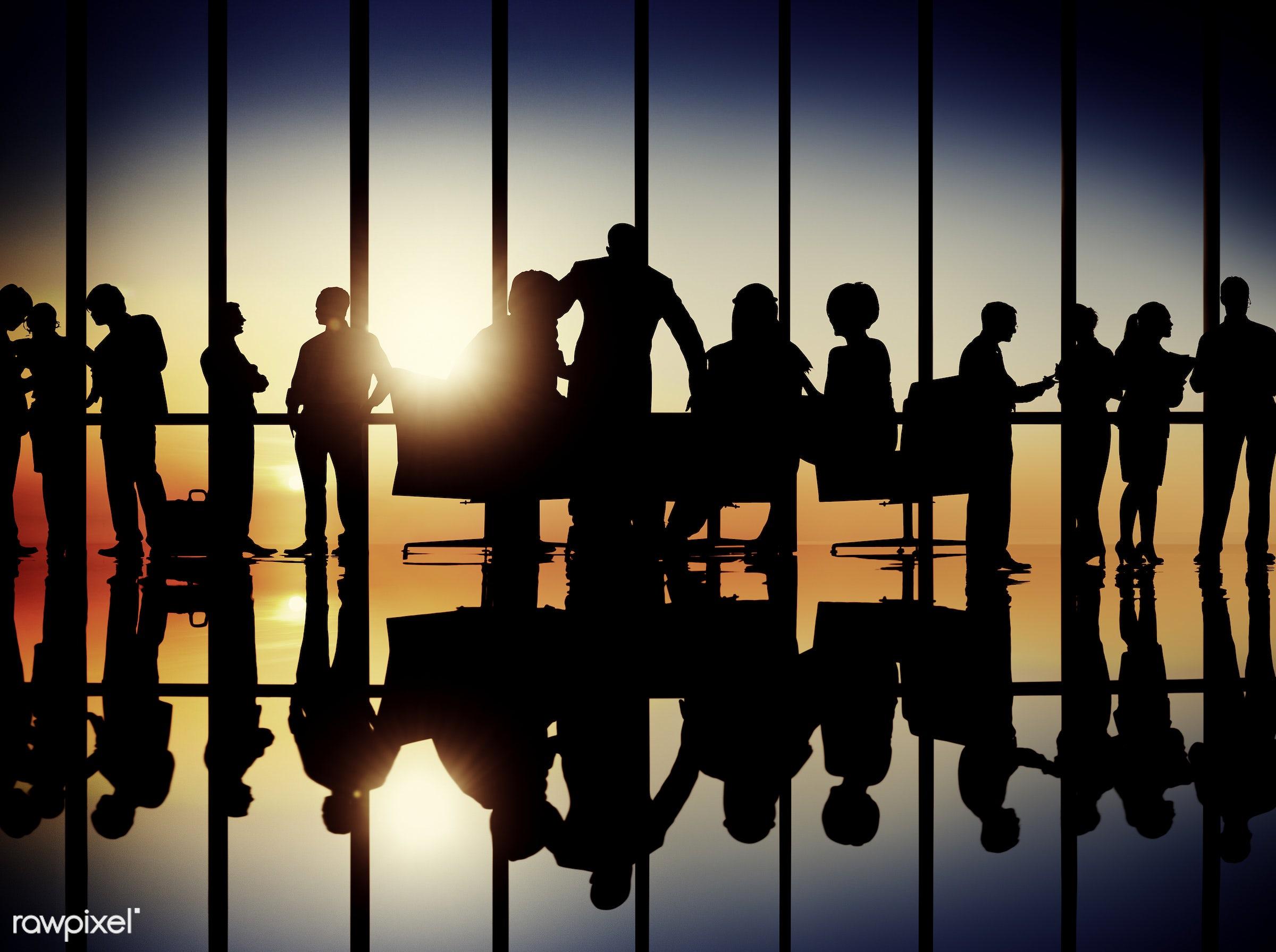 back lit, brainstorming, business, business people, businessmen, businesswomen, colleagues, communication, conference,...