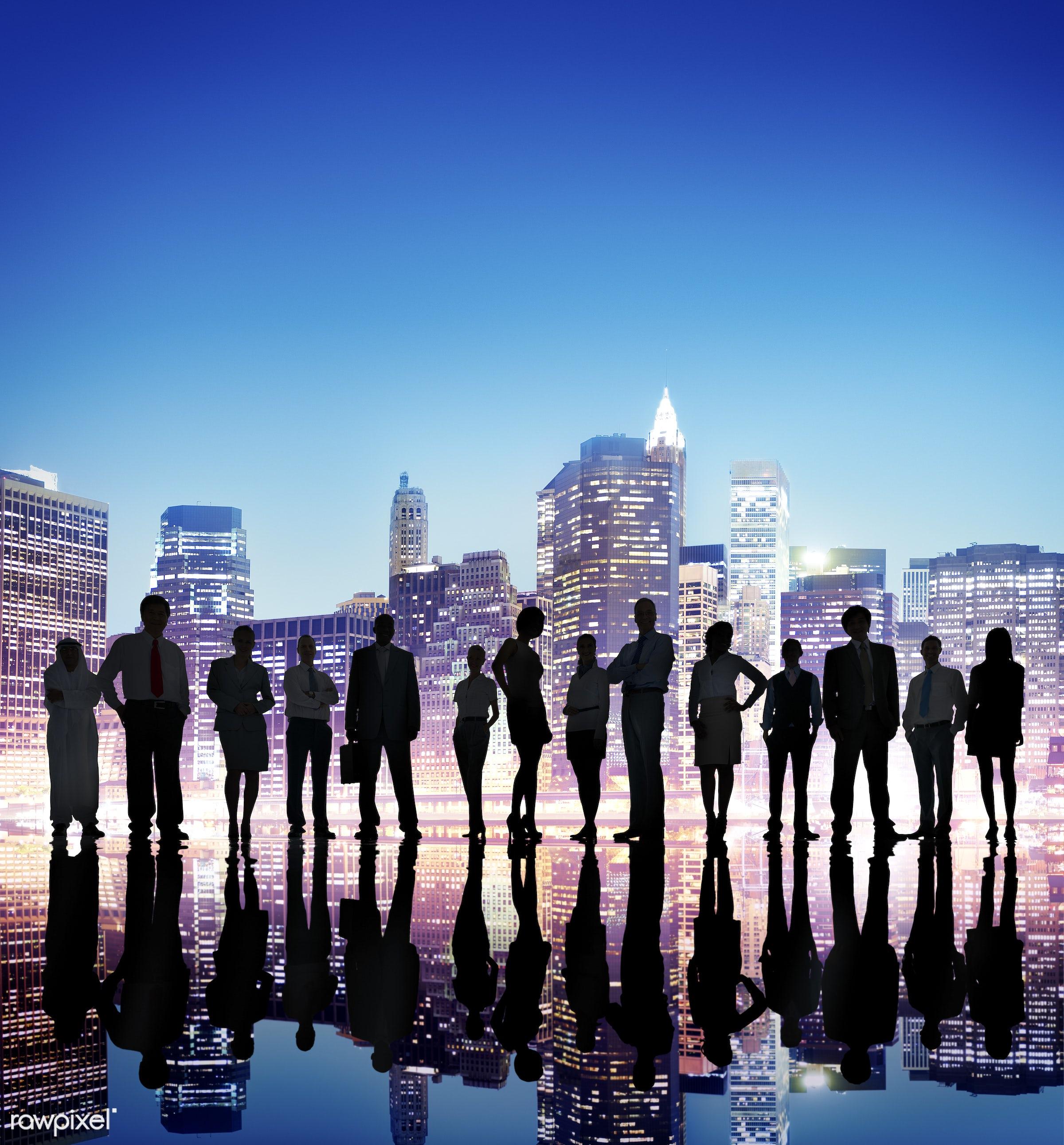 backlit, brainstorming, building, business, business people, businessmen, businesswomen, cityscape, colleagues, concepts,...
