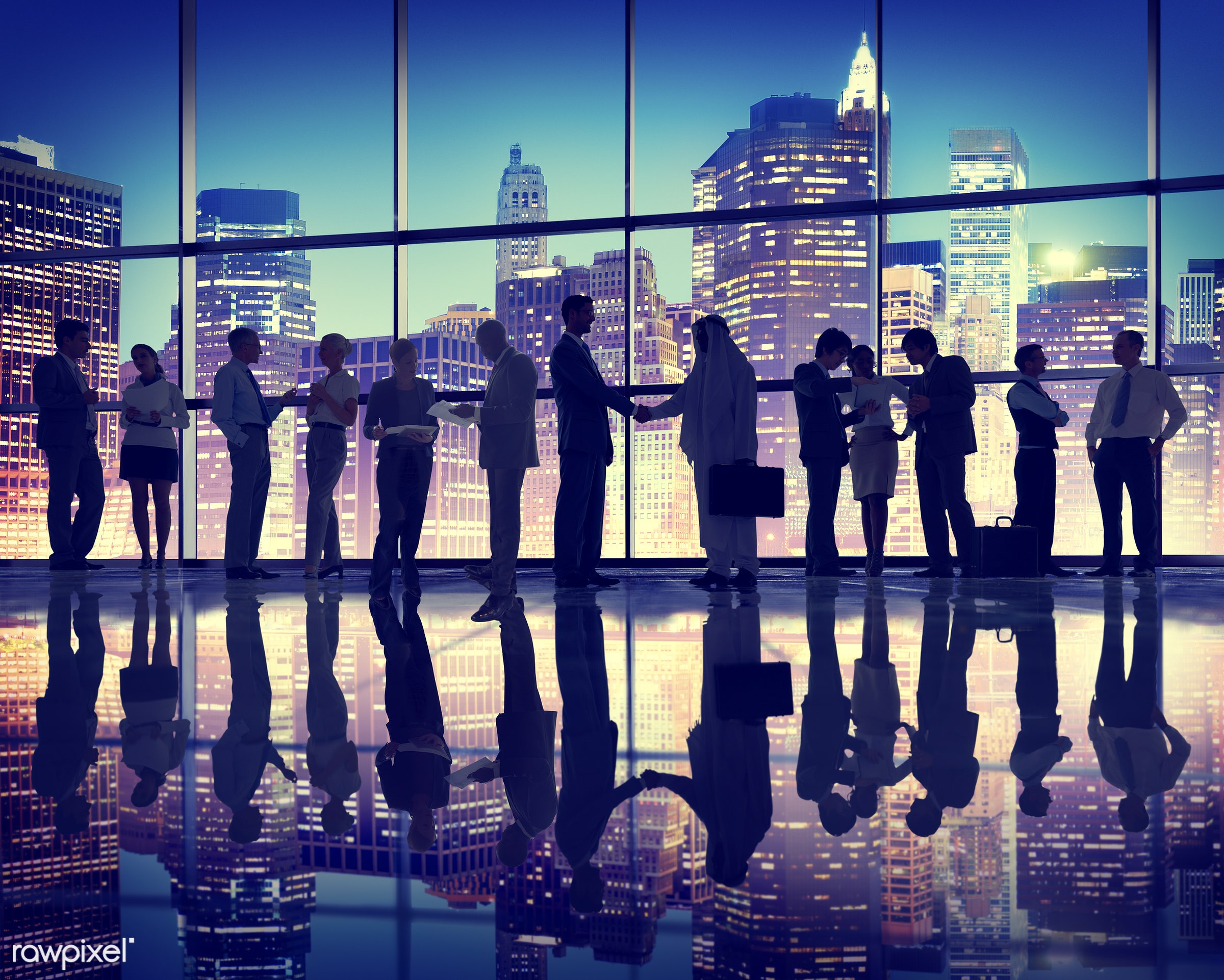 agreement, backlit, business, business people, businessmen, businesswomen, city, cityscape, colleagues, communication,...