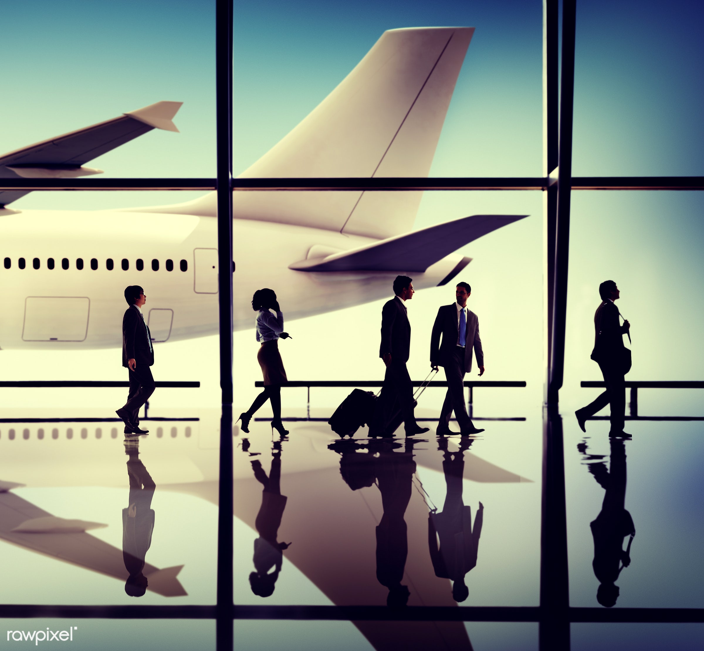 aircraft, airplane, airport, arrival, backlit, business, business people, business travel, businessmen, businesswomen,...