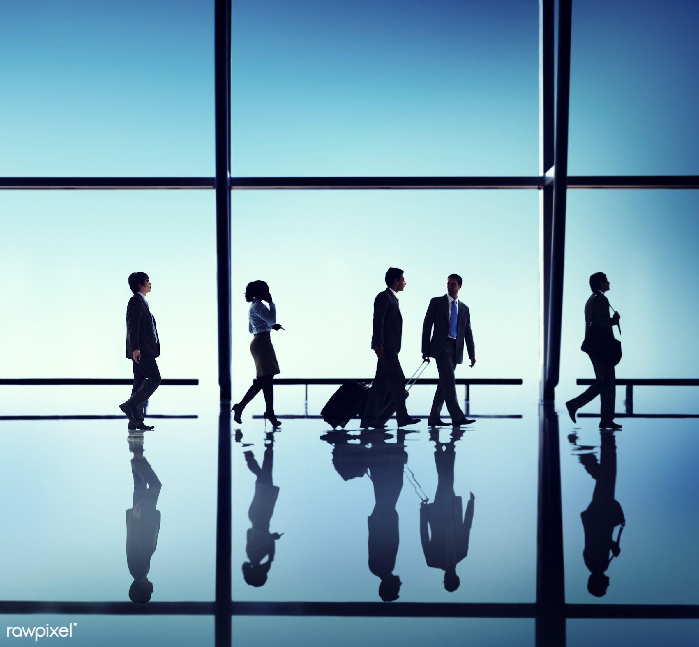 backlit, blue, business, business people, business travel, businessmen, businesswomen, calling, colleagues, communication,...