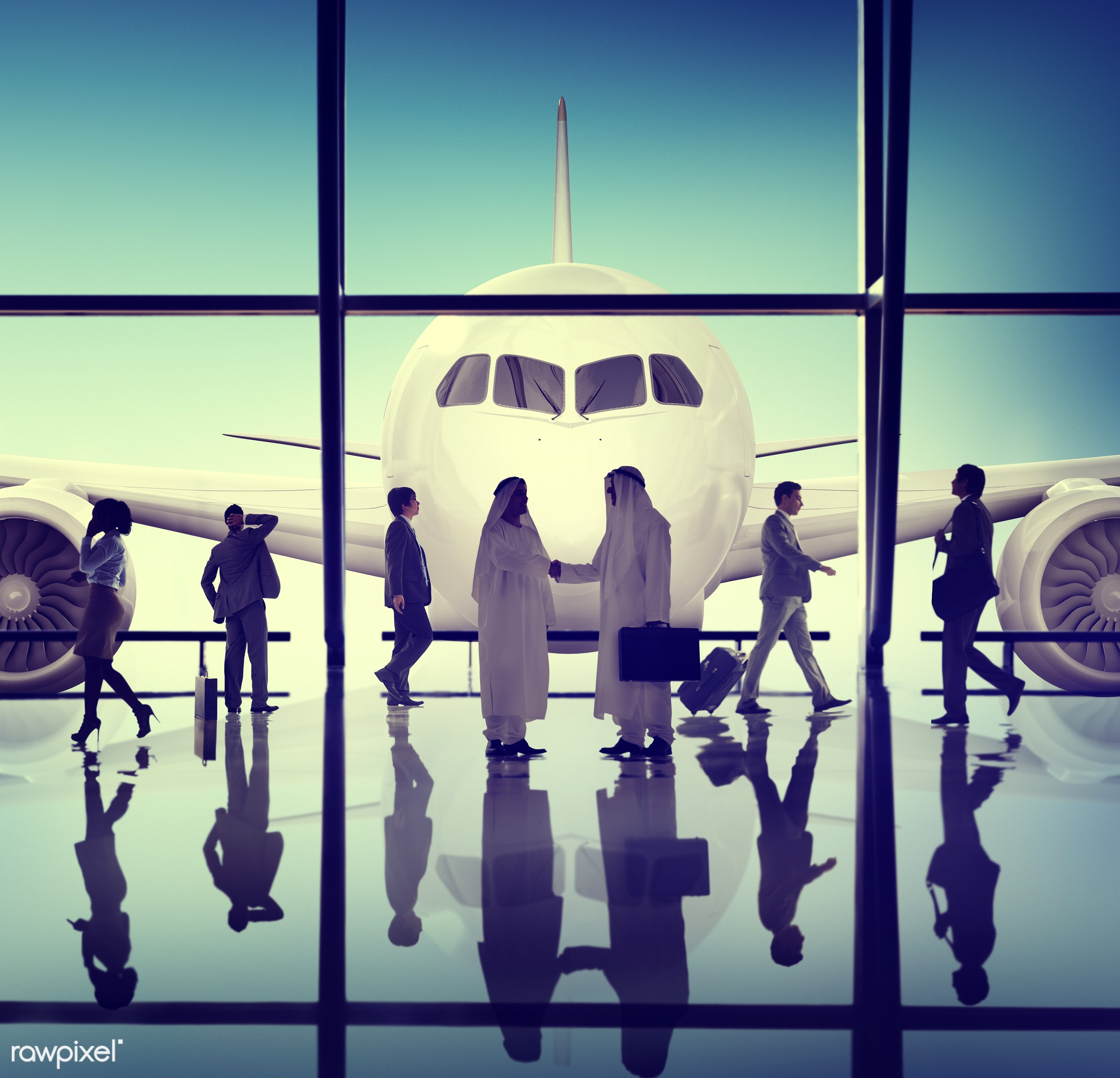 agreement, aircraft, airplane, airport, arrival, backlit, business, business people, businessmen, businesswomen,...