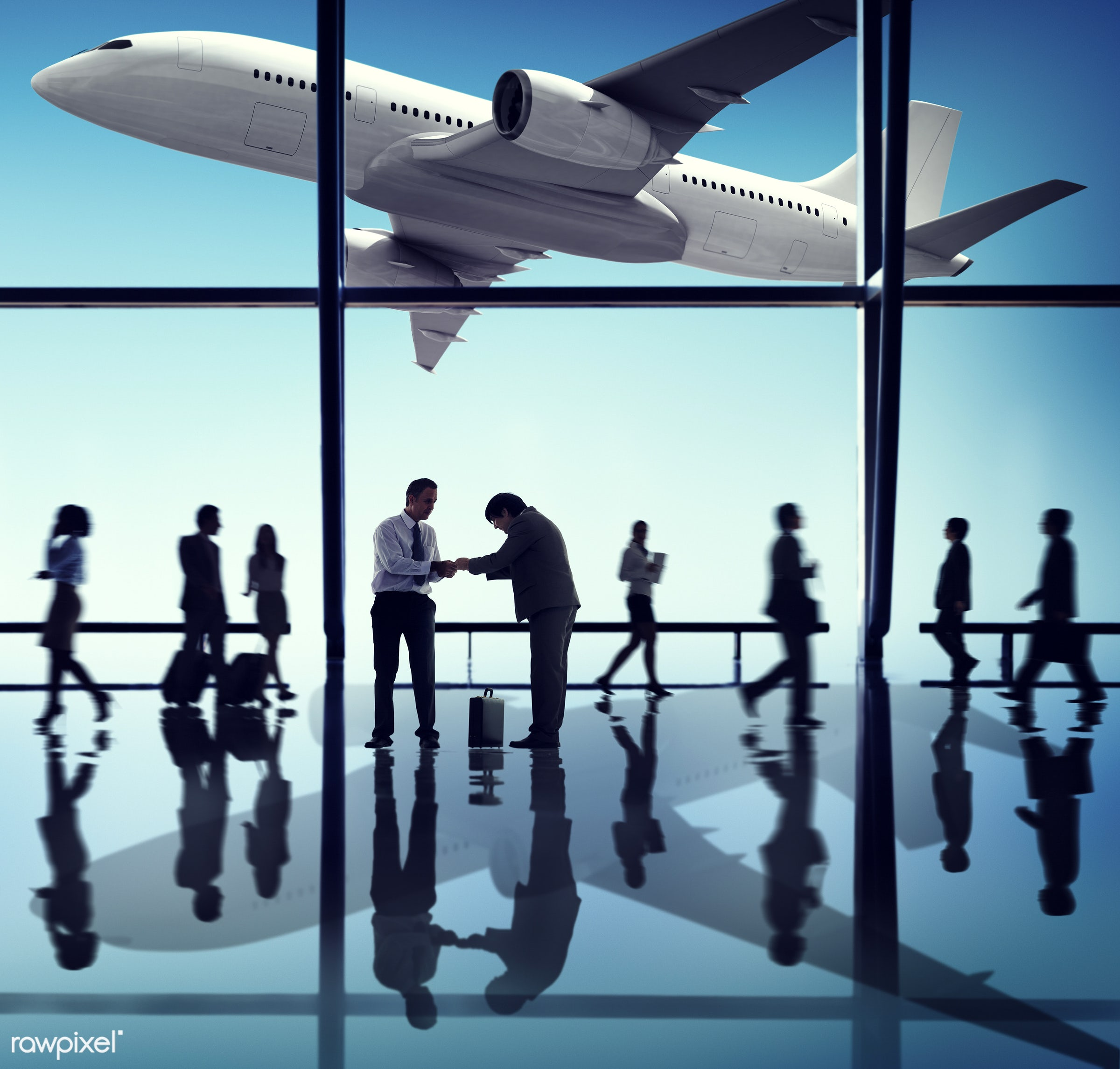 agreement, airplane, airport, bowing, business people, business travel, businessmen, businesswomen, communication,...