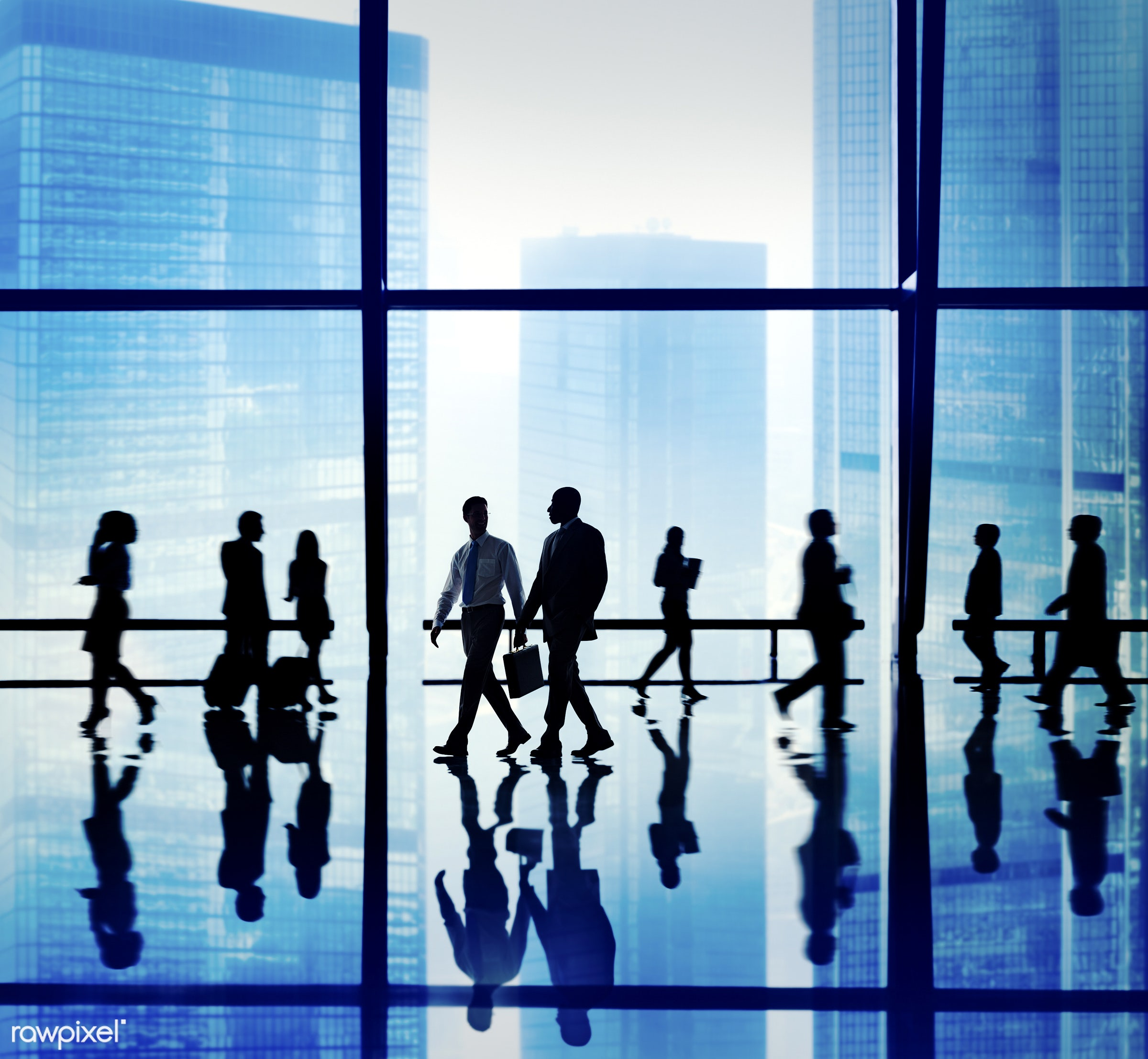 backlit, blue, blurred motion, buildings, business, business people, businessmen, businesswomen, calling, colleagues,...