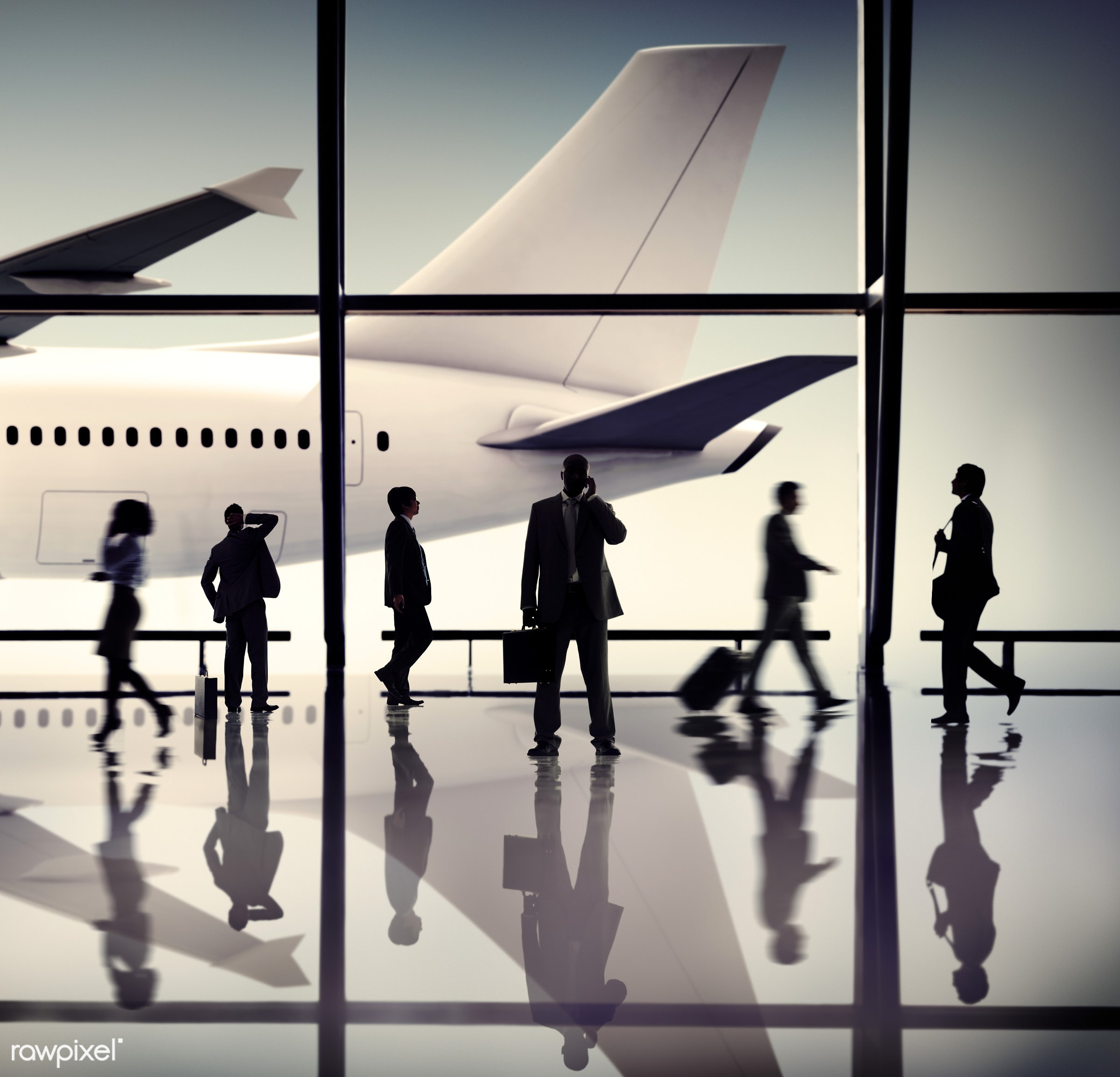 aircraft, airplane, airport, business people, business travel, businessmen, businesswomen, calling, communication, corporate...