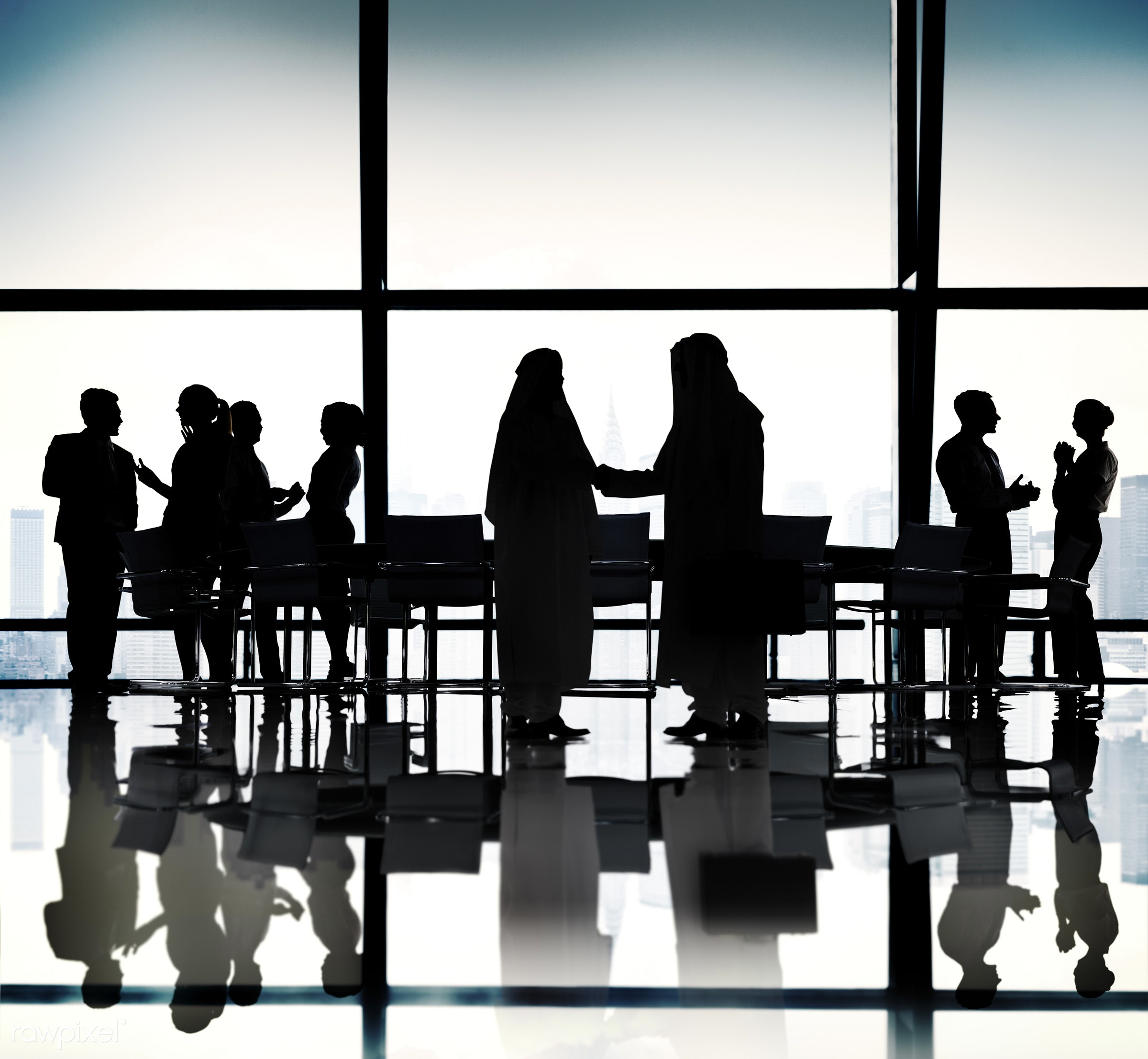 agreement, backlit, blue, board room, business, business people, businessmen, businesswomen, city, cityscape, colleagues,...